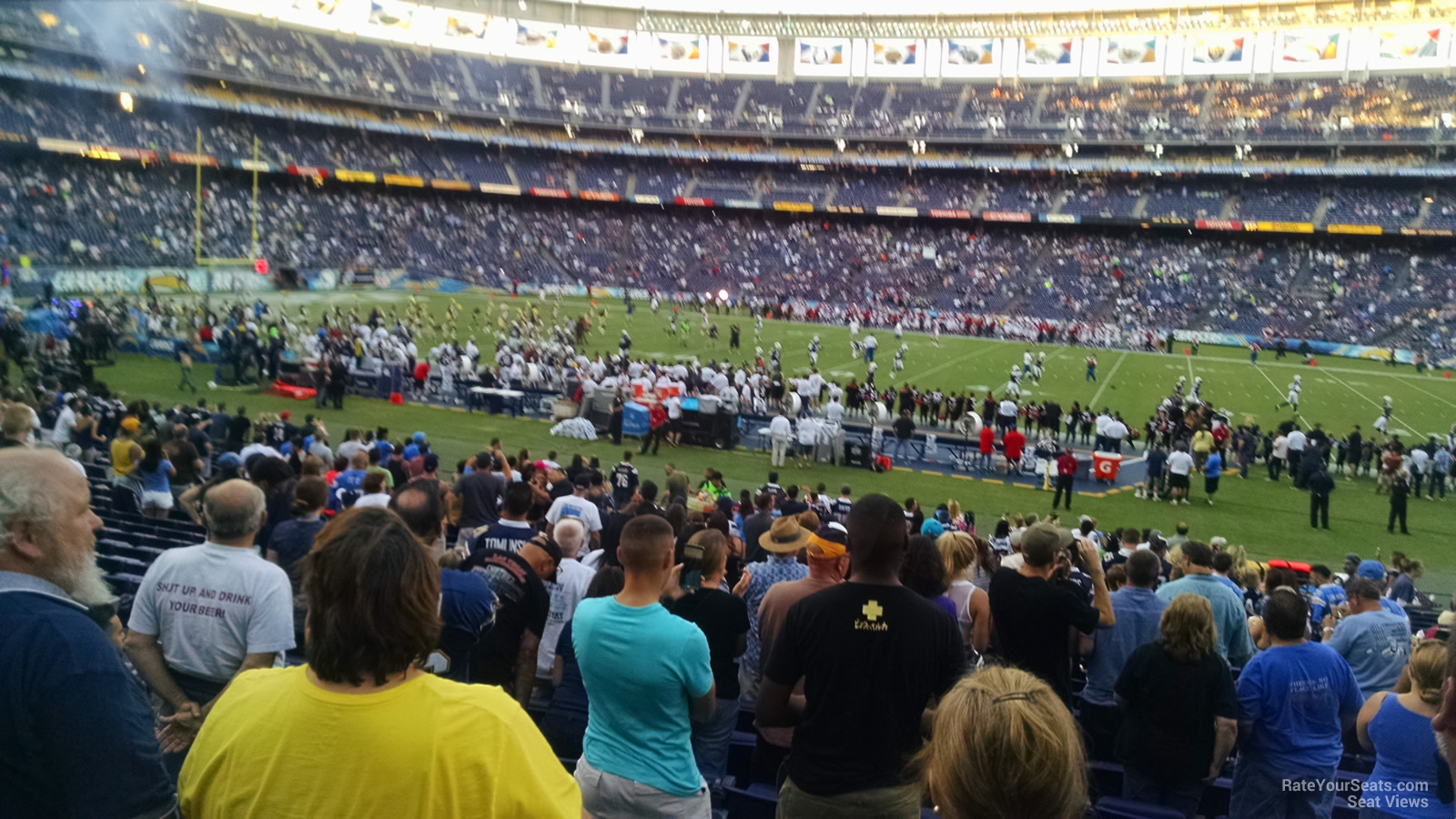Seat View for Qualcomm Stadium Field 38, Row 24