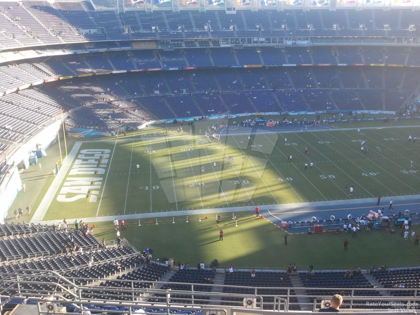 Seat View for SDCCU Stadium View Level 3V, Row 15