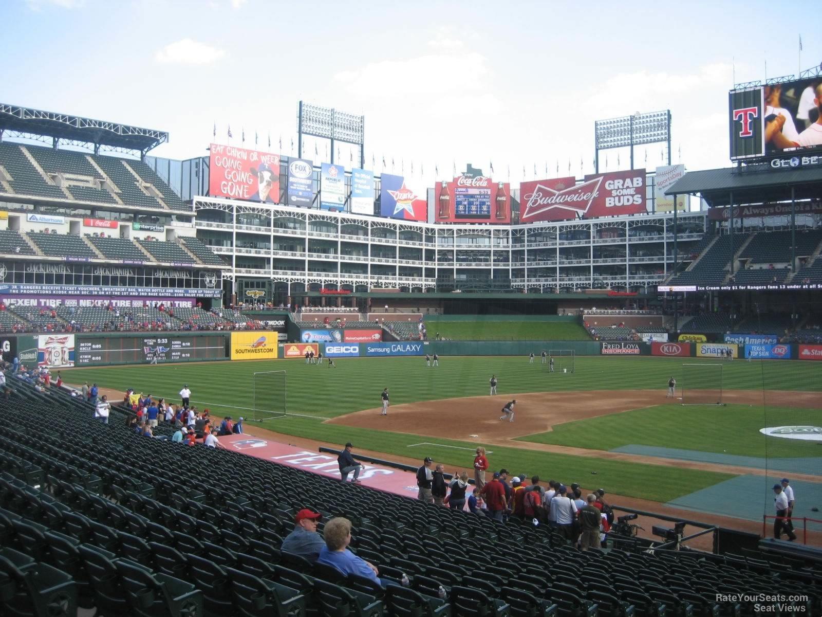 Rangers Ballpark Section 22 Row 24 2 on 4 18 2014k