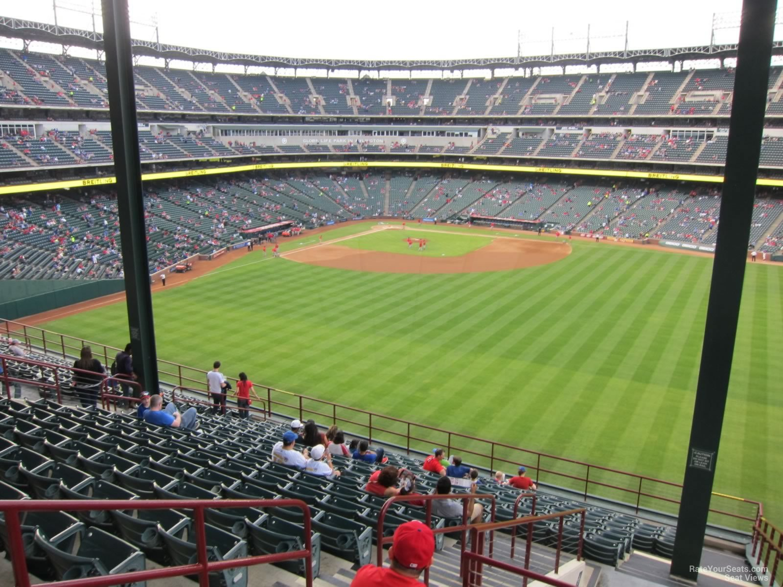 globe life park section 252   rateyourseats