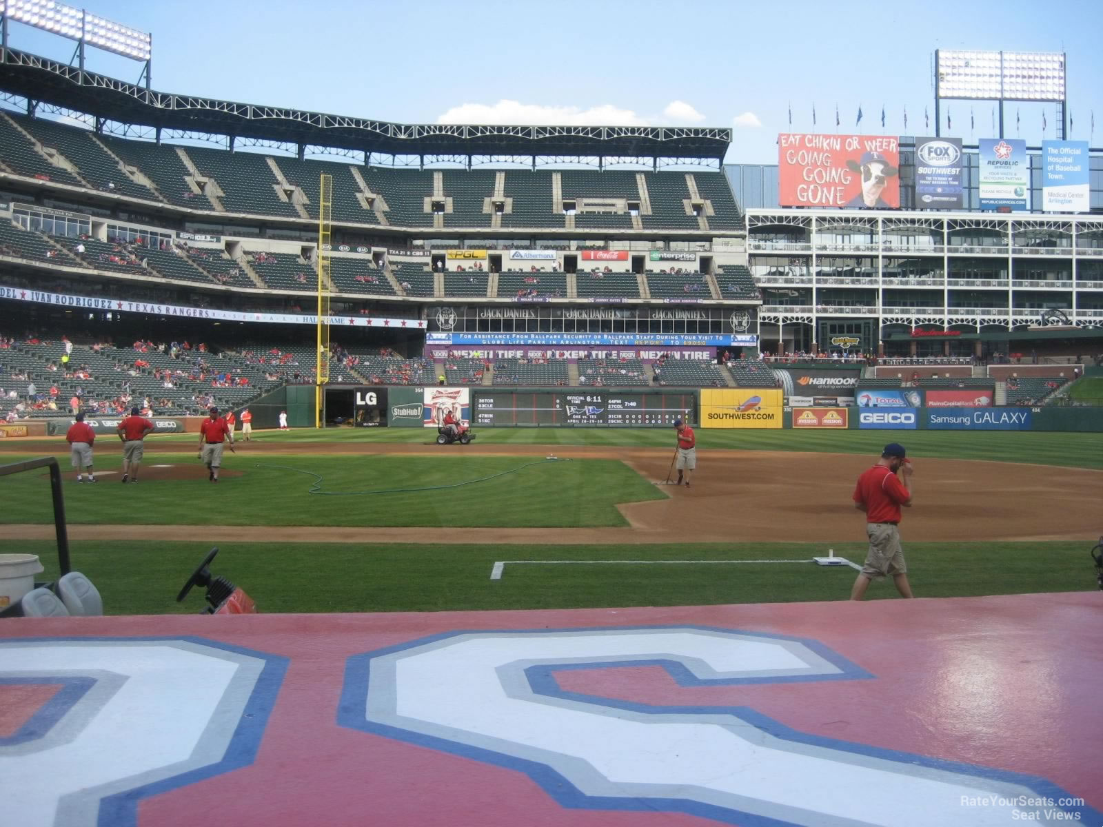 Rangers Ballpark Section 33 Row 4 Seat 12 2 on 4 18 2014k