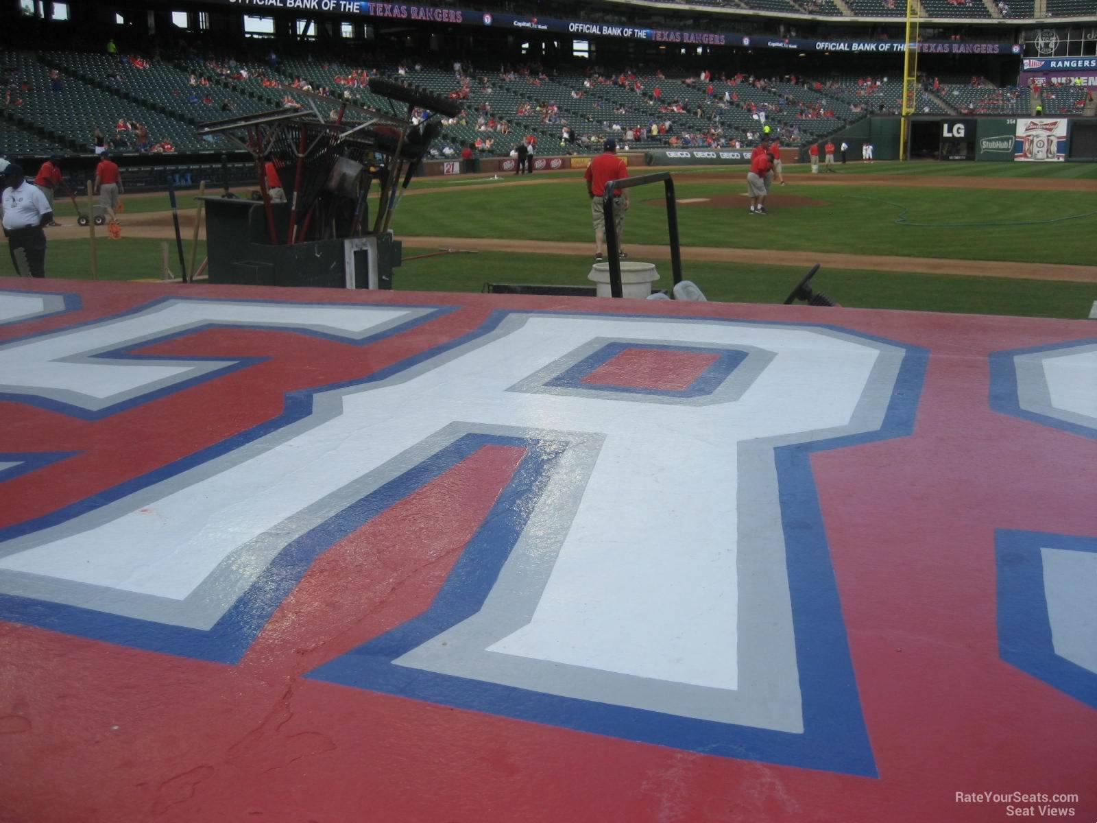 Rangers Ballpark Section 33 Row 4 Seat 12 4 on 4 18 2014k