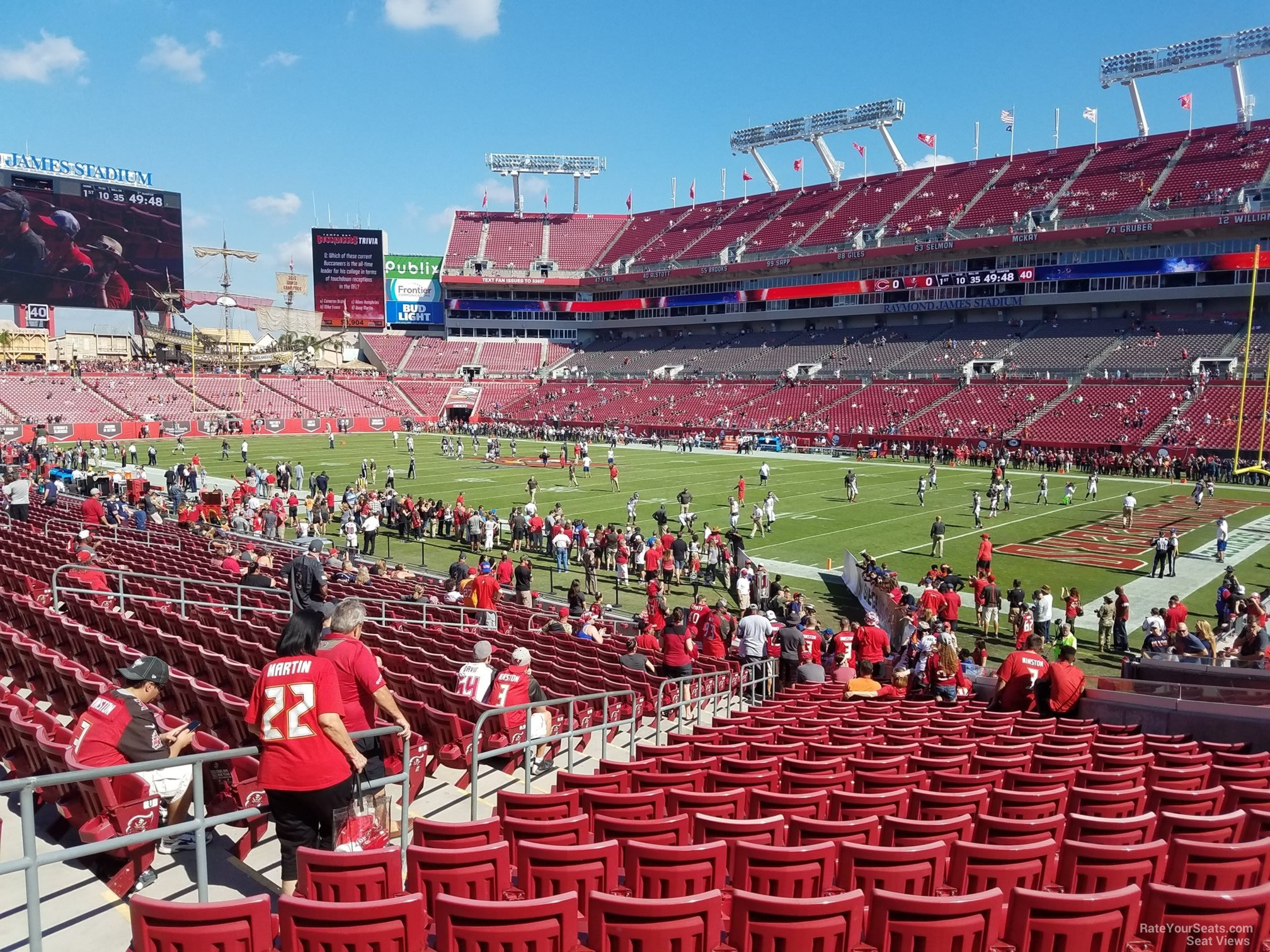 Seat View for Raymond James Stadium Section 118, Row X