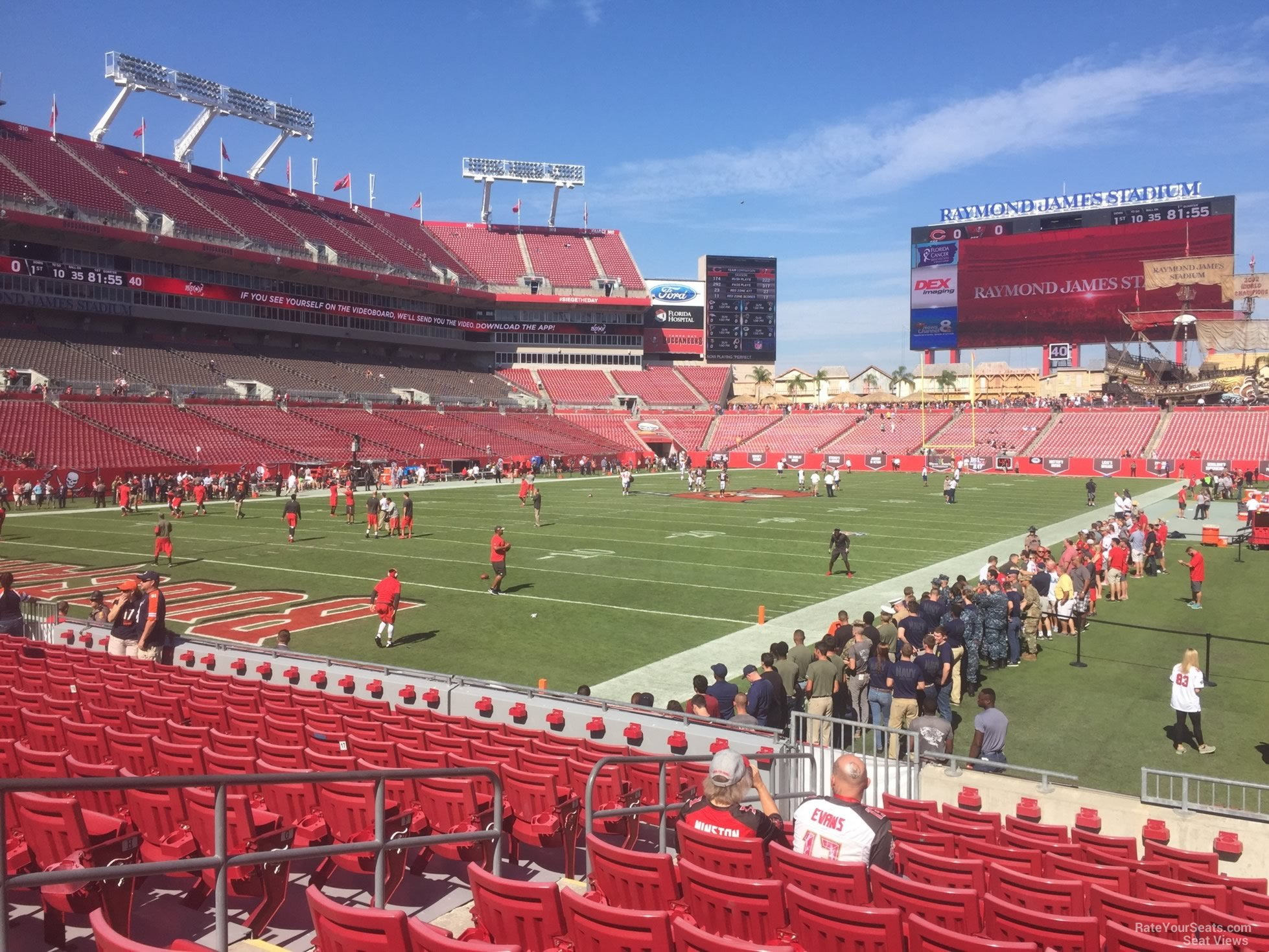Seat View for Raymond James Stadium Section 126, Row M