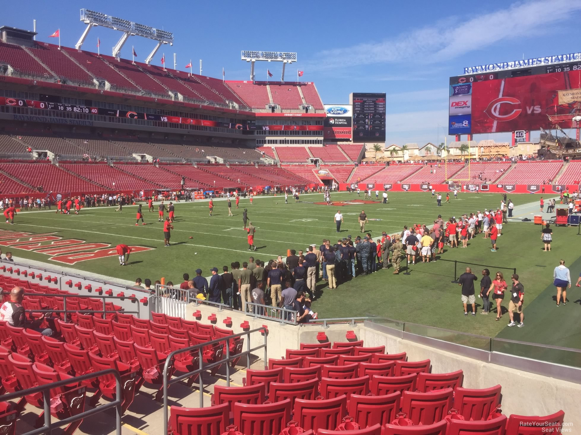 Seat View for Raymond James Stadium Section 127, Row M