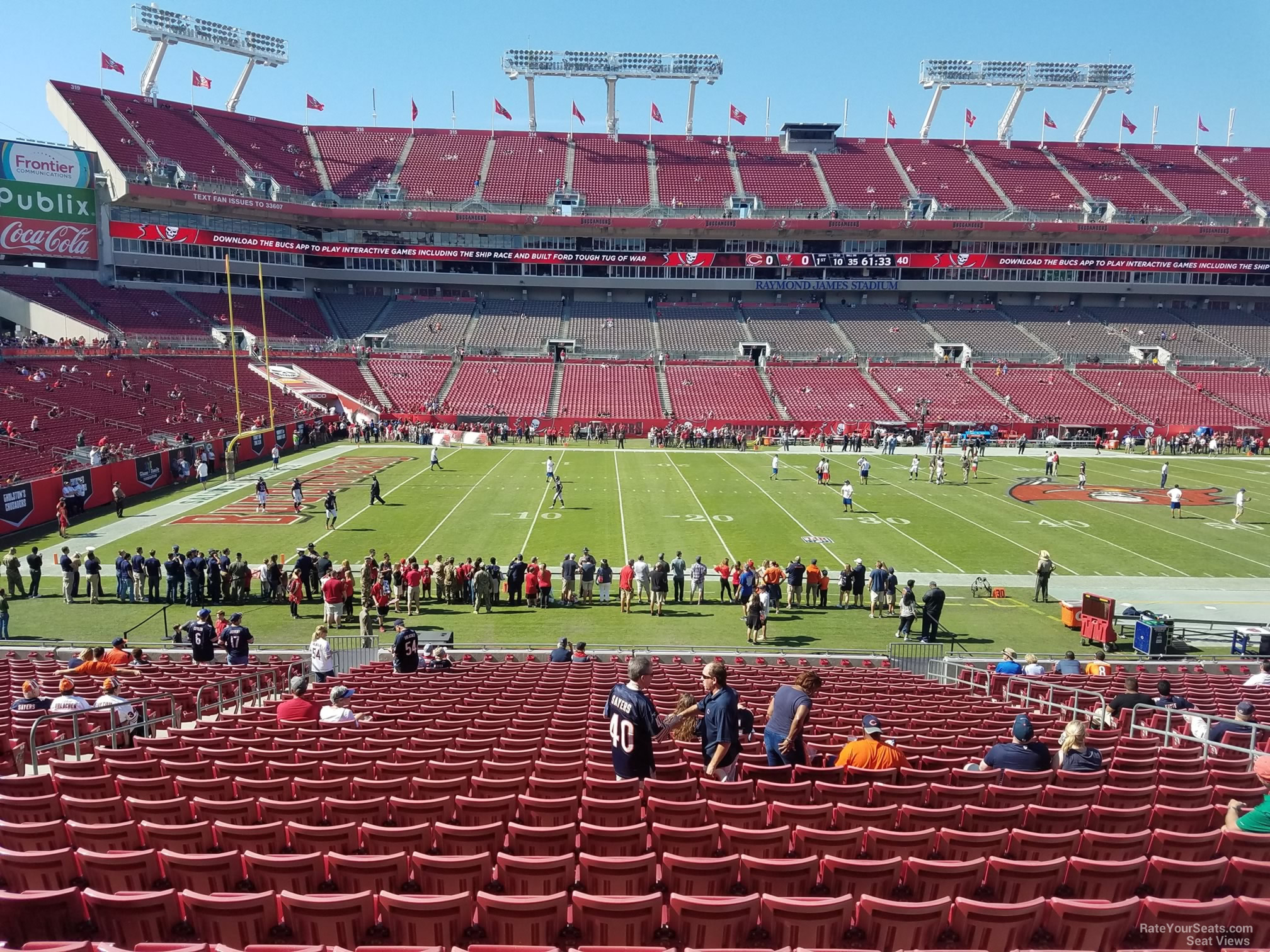 Seat View For Raymond James Stadium Section 133