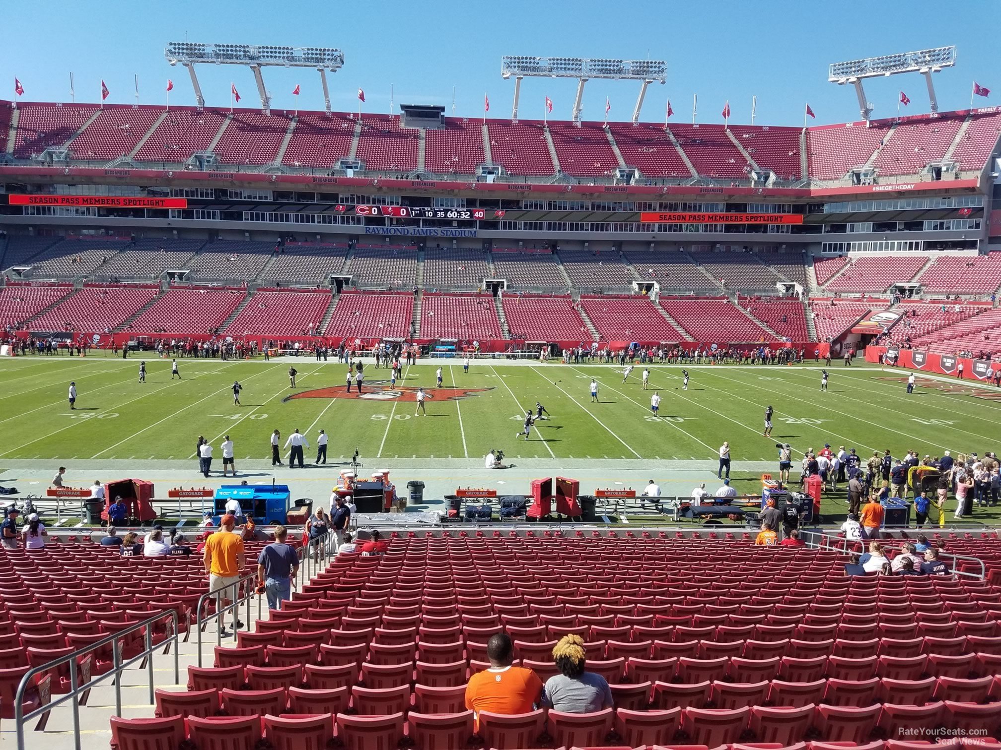 Seat View For Raymond James Stadium Section 136