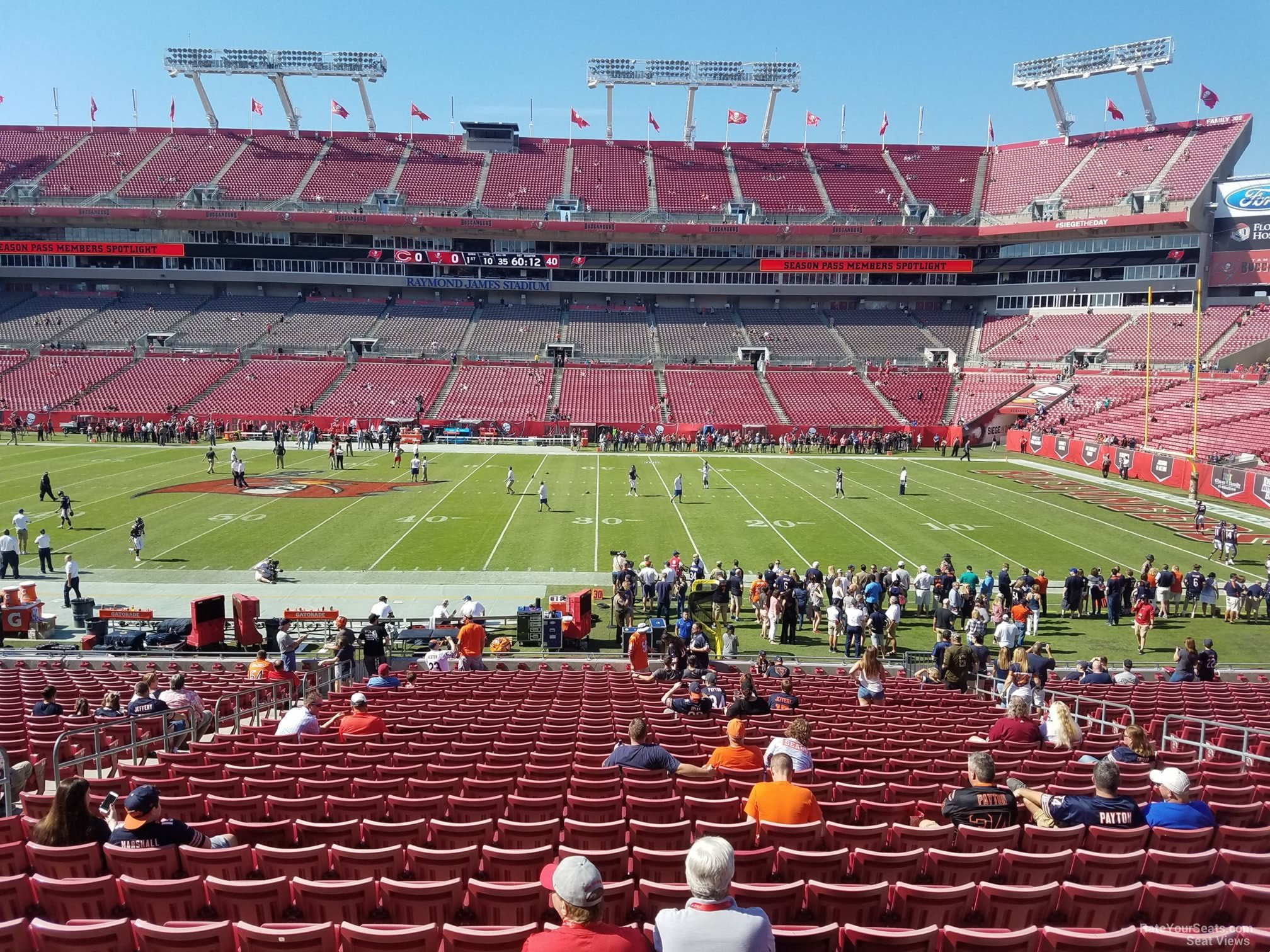 Seat View for Raymond James Stadium Section 137, Row WC