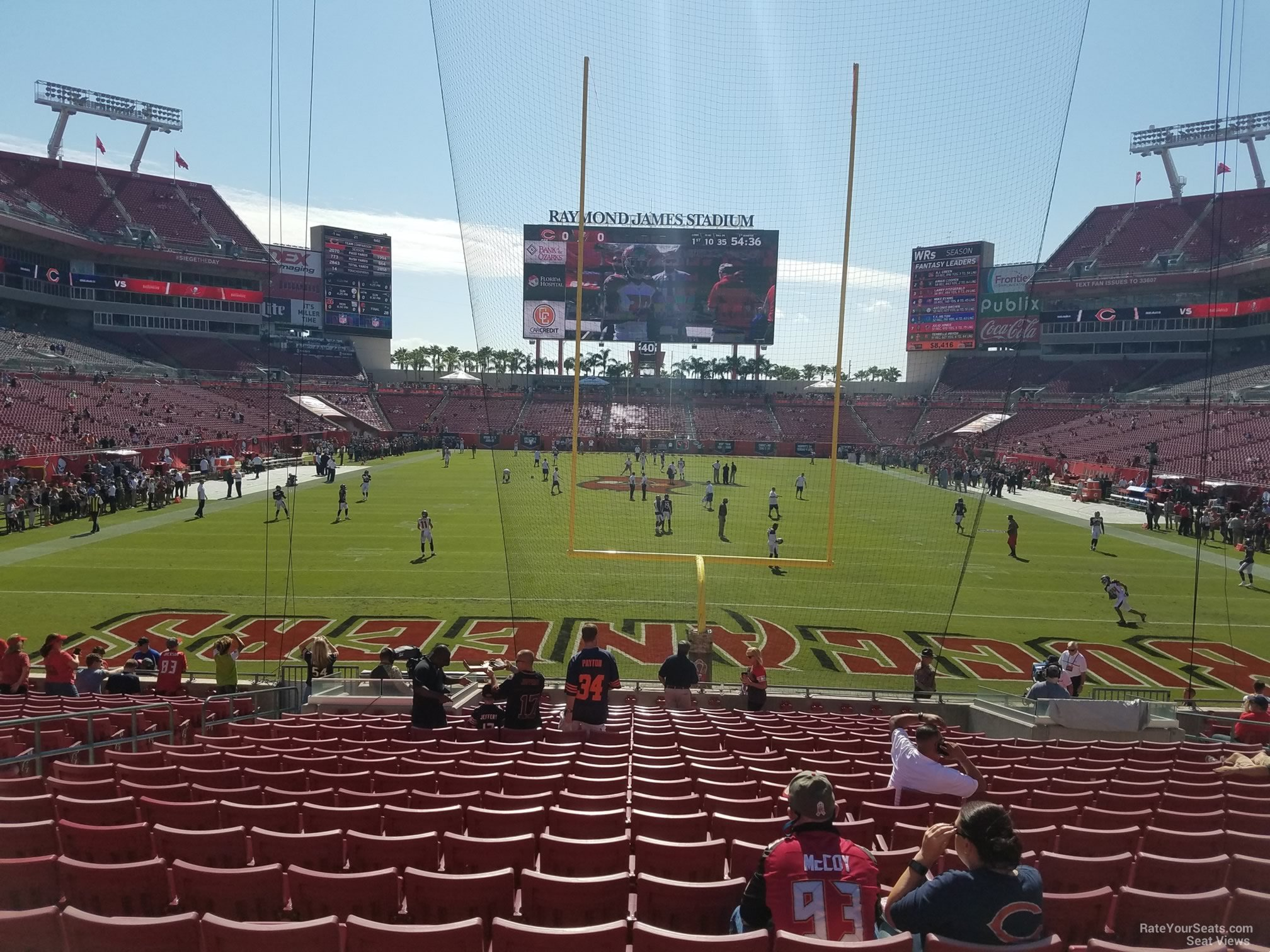 Seat View for Raymond James Stadium Section 148, Row X