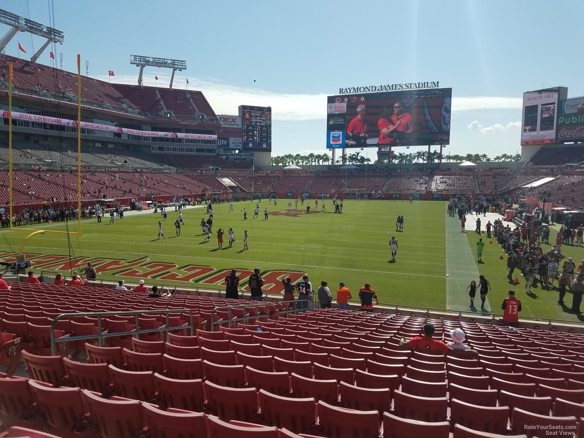 Seat View for Raymond James Stadium Section 150, Row X