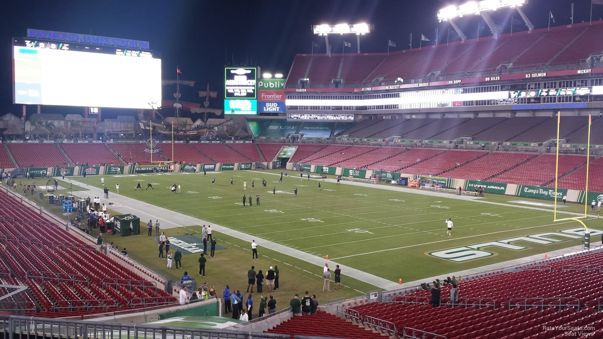 Seat View for Raymond James Stadium Section 219, Row P