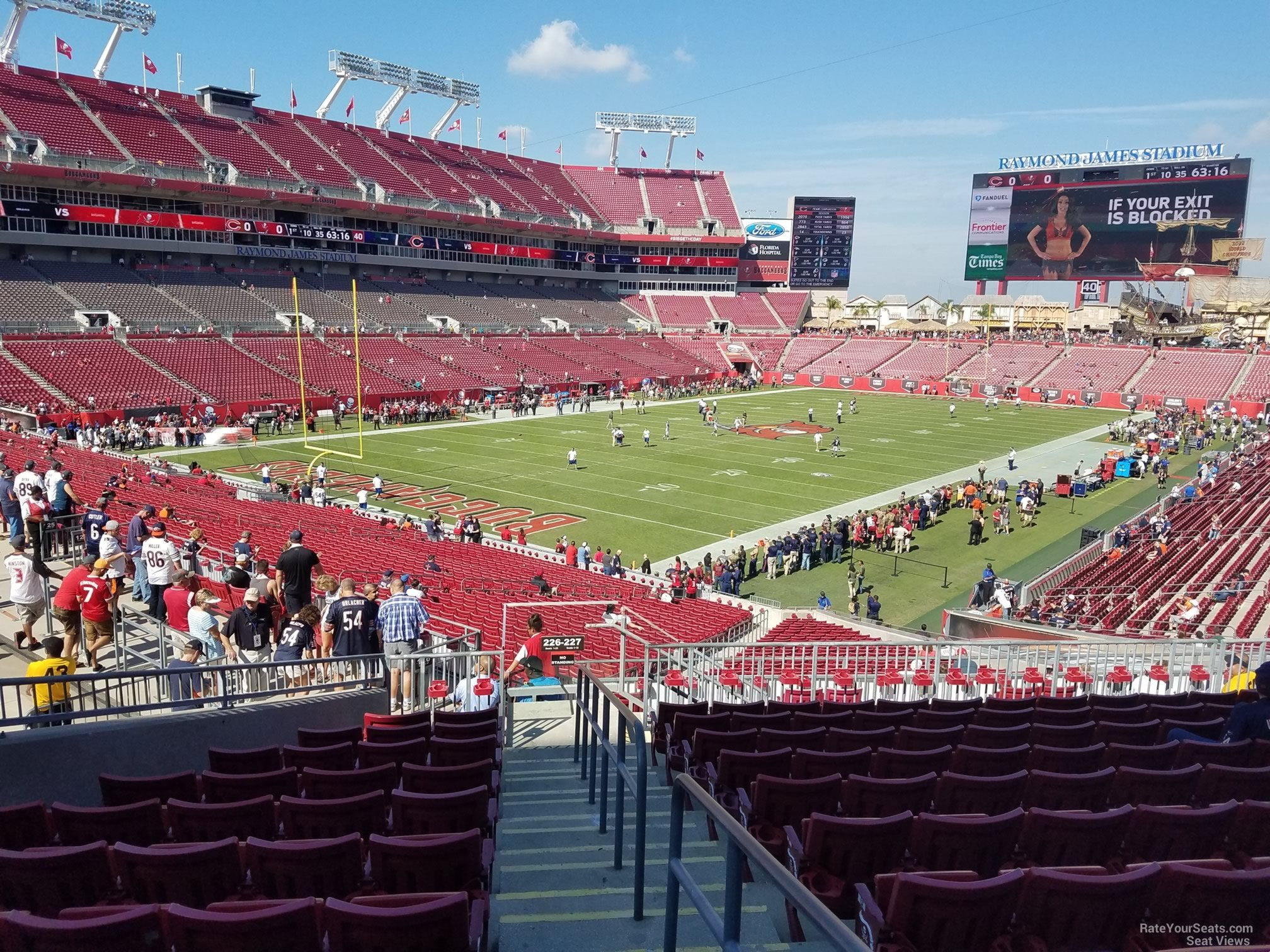 Seat View for Raymond James Stadium Section 227, Row L