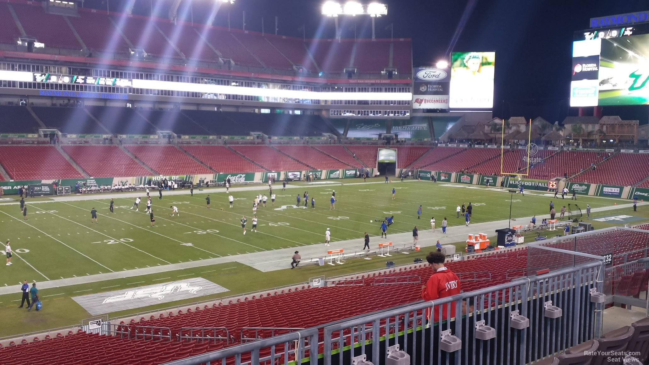 Seat View for Raymond James Stadium Section 232, Row P