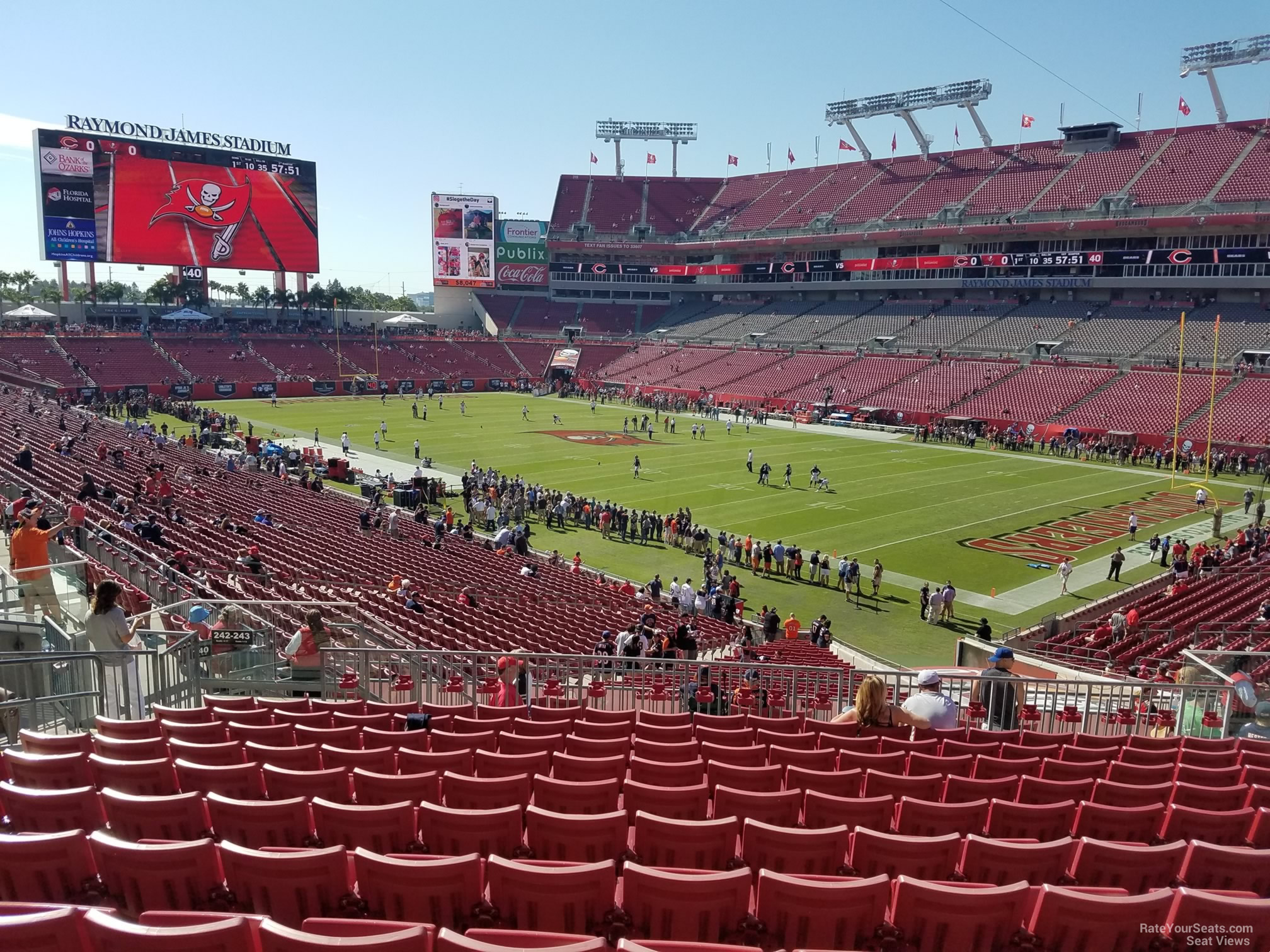 Seat View for Raymond James Stadium Section 242, Row L
