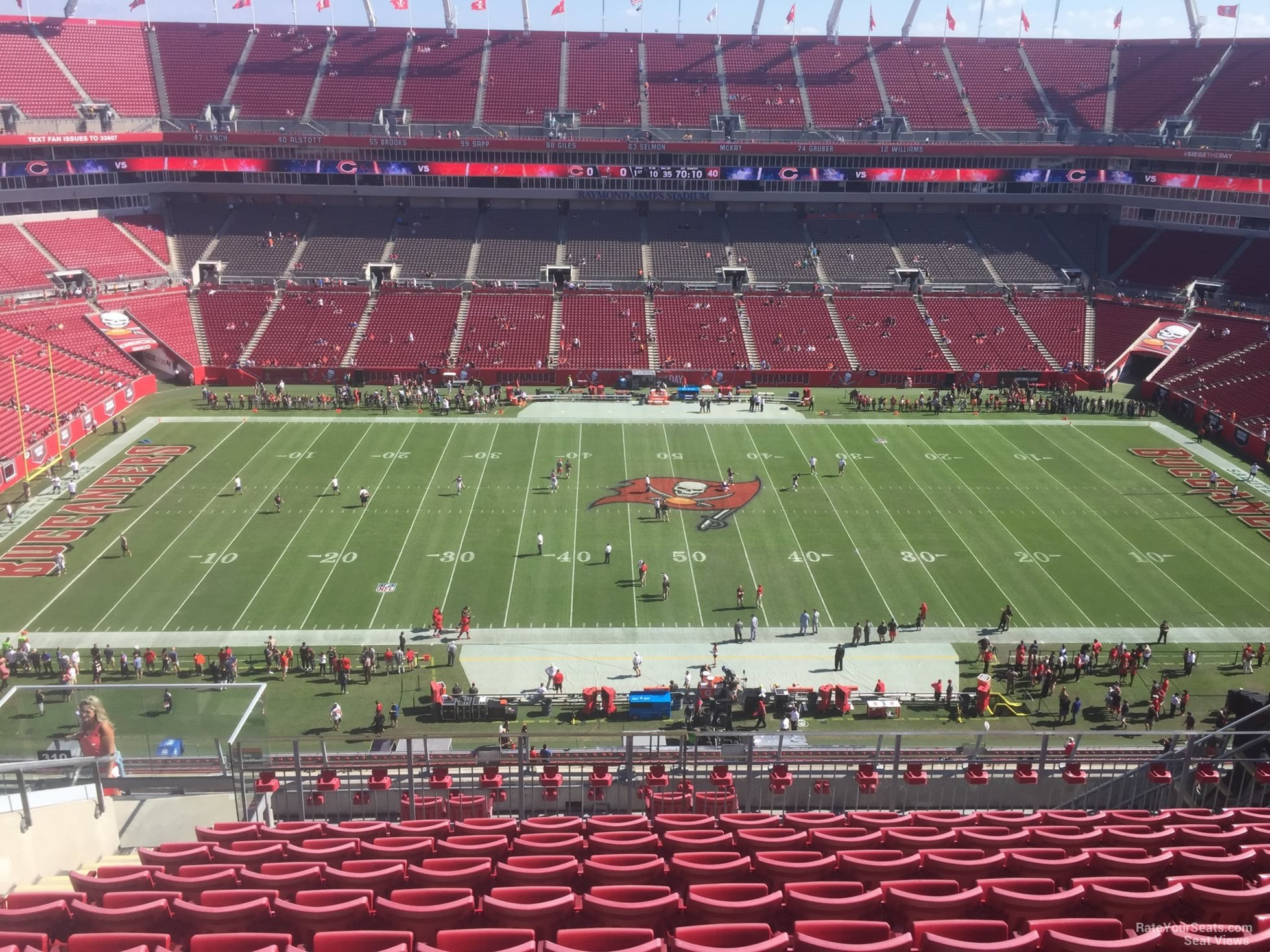 seat view for raymond james stadium section  . raymond james stadium section   tampa bay buccaneers