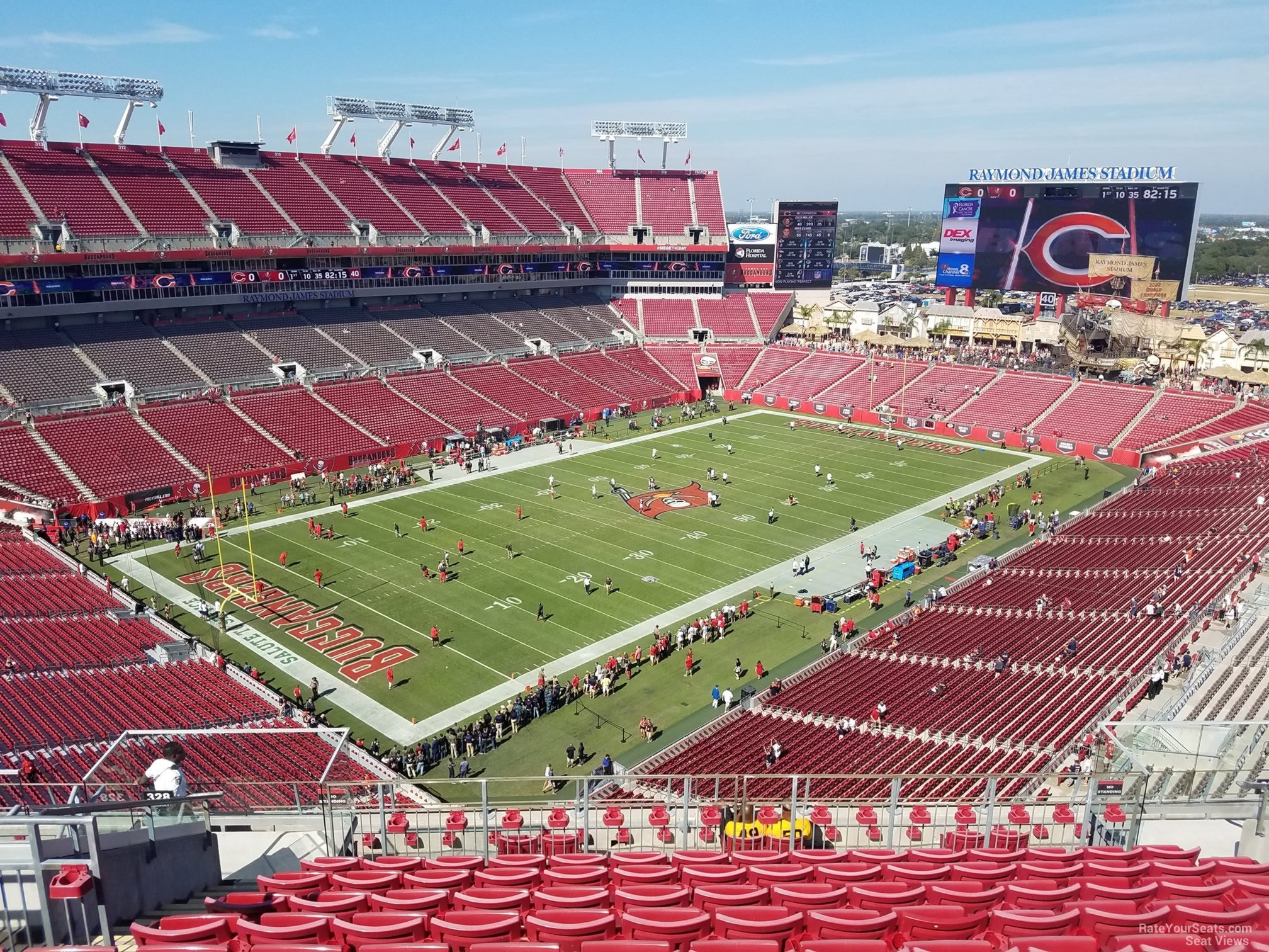 Seat View for Raymond James Stadium Section 328, Row K