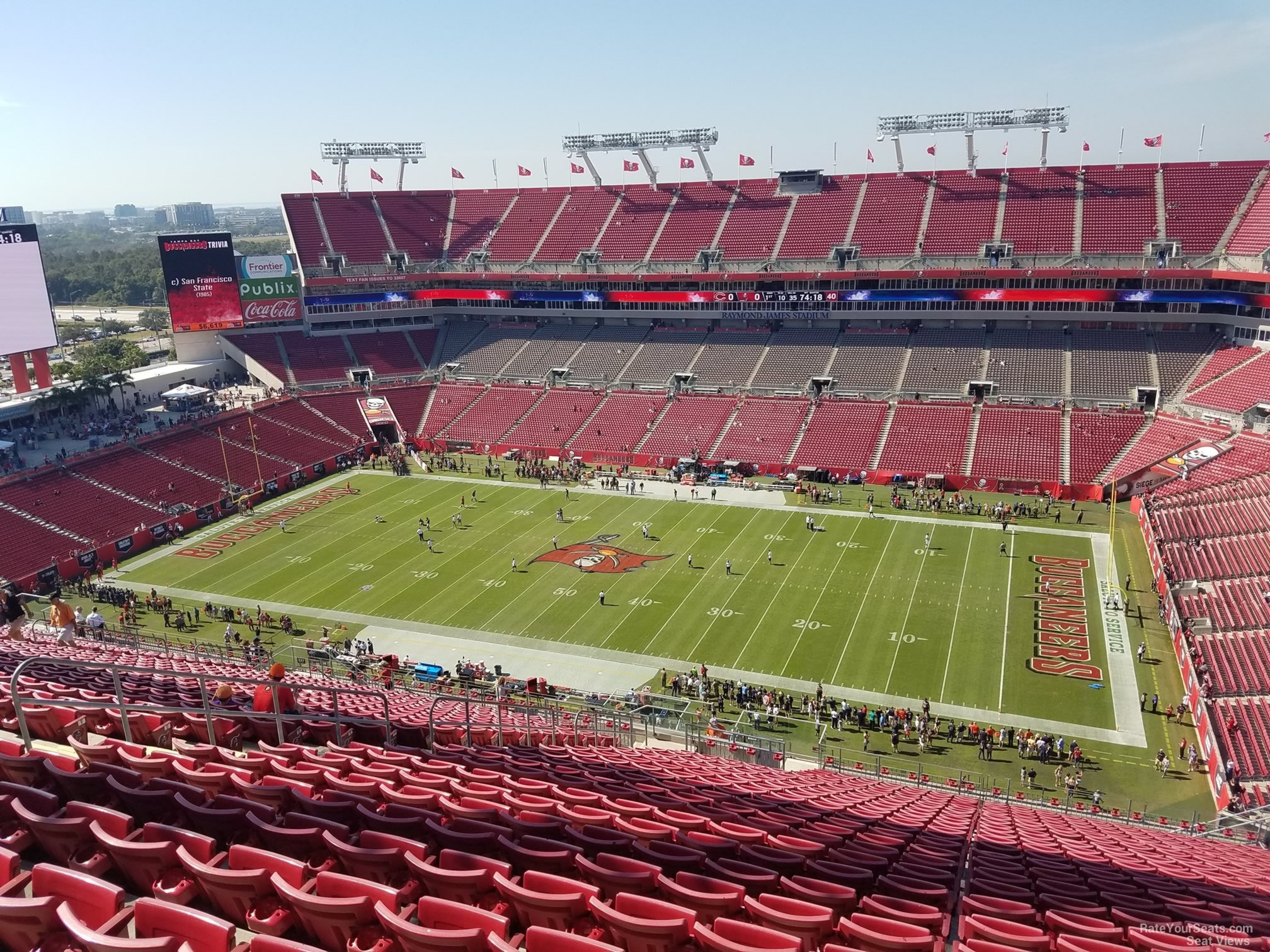 Seat View For Raymond James Stadium Section 339