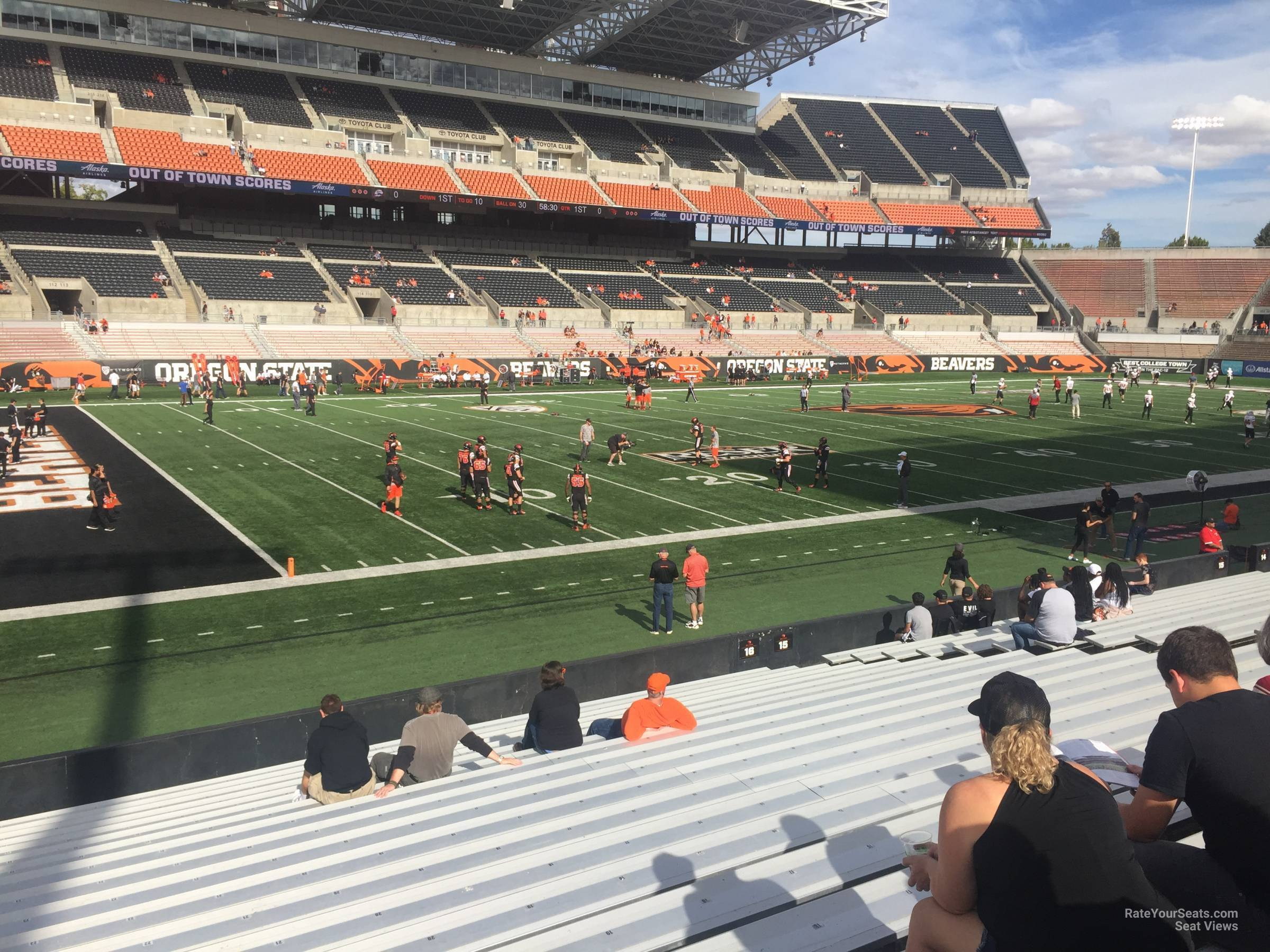 Seat View for Reser Stadium Section 16, Row 20