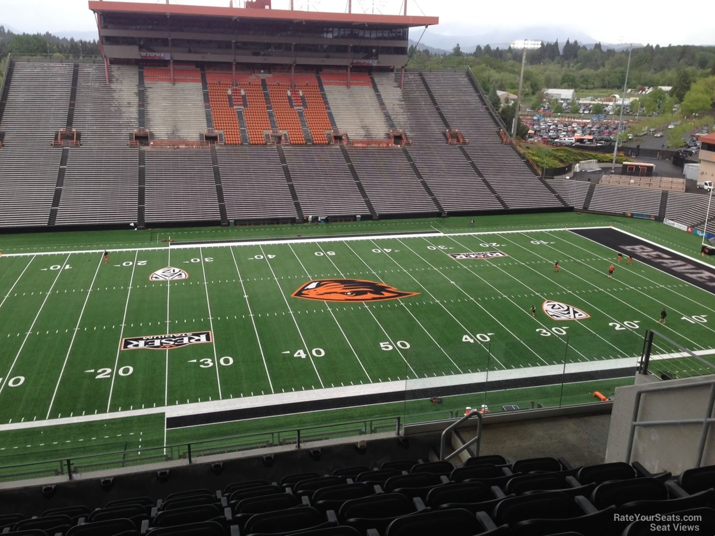 Seat View for Reser Stadium Section 222, Row 19, Seat 5