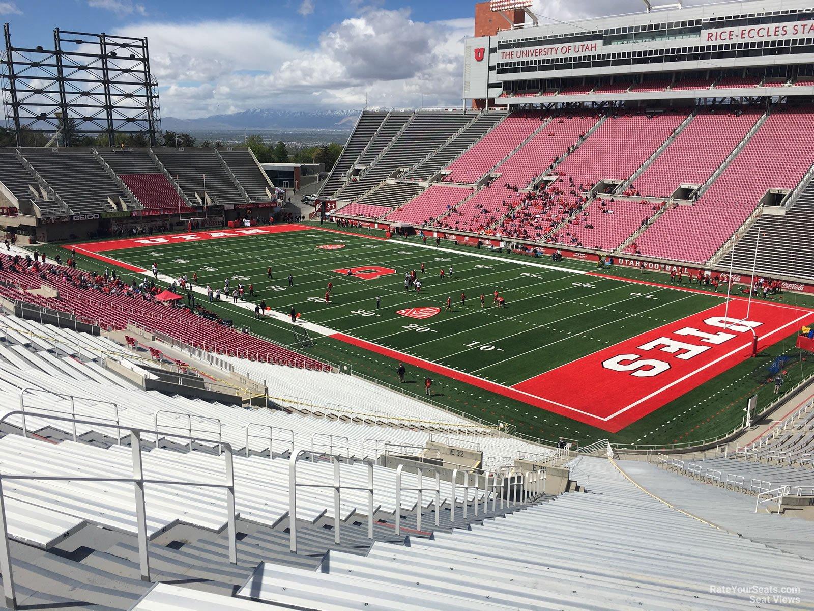 Section E30 seat view