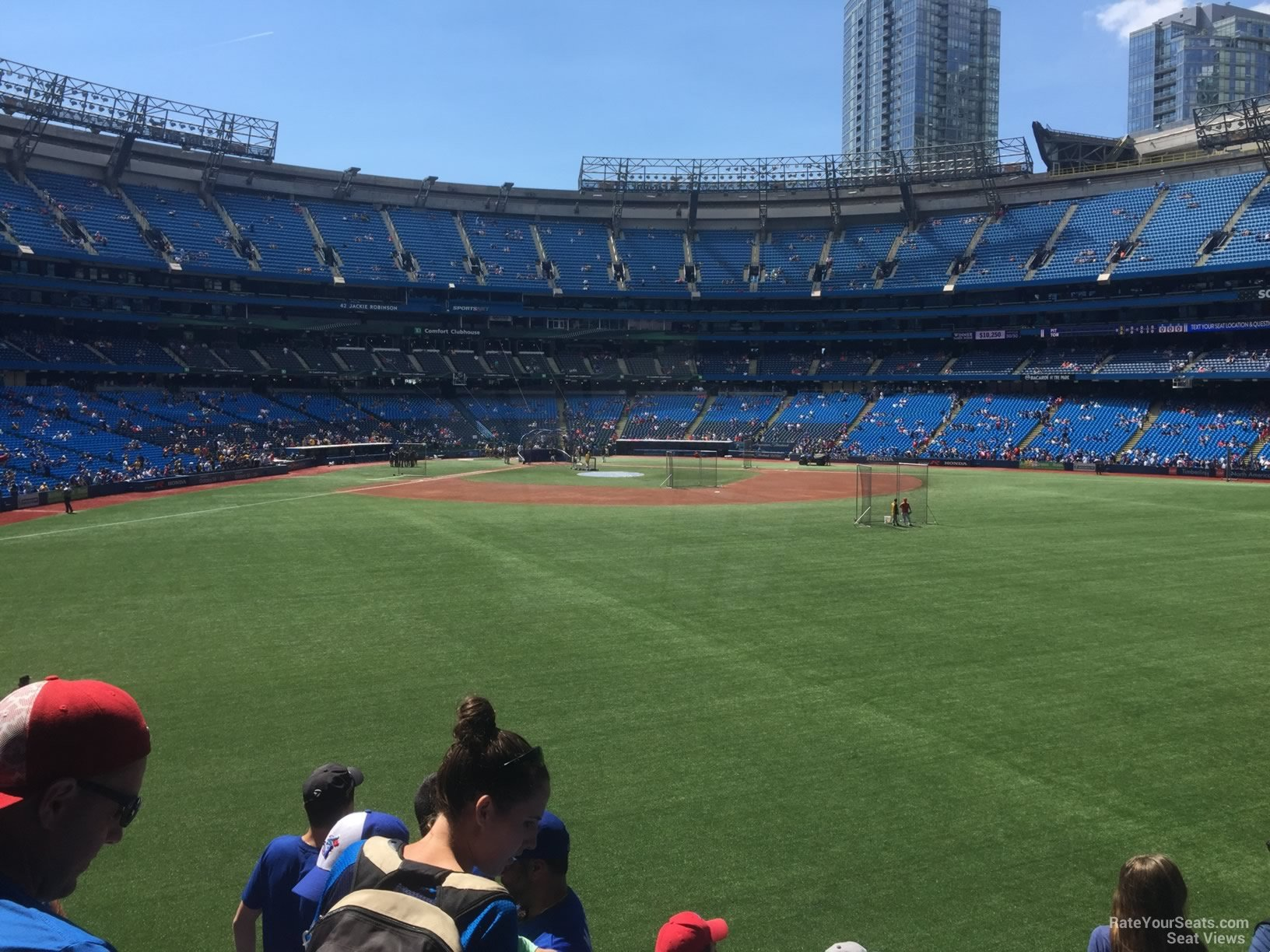 Seat View for Rogers Centre Section 104, Row 6
