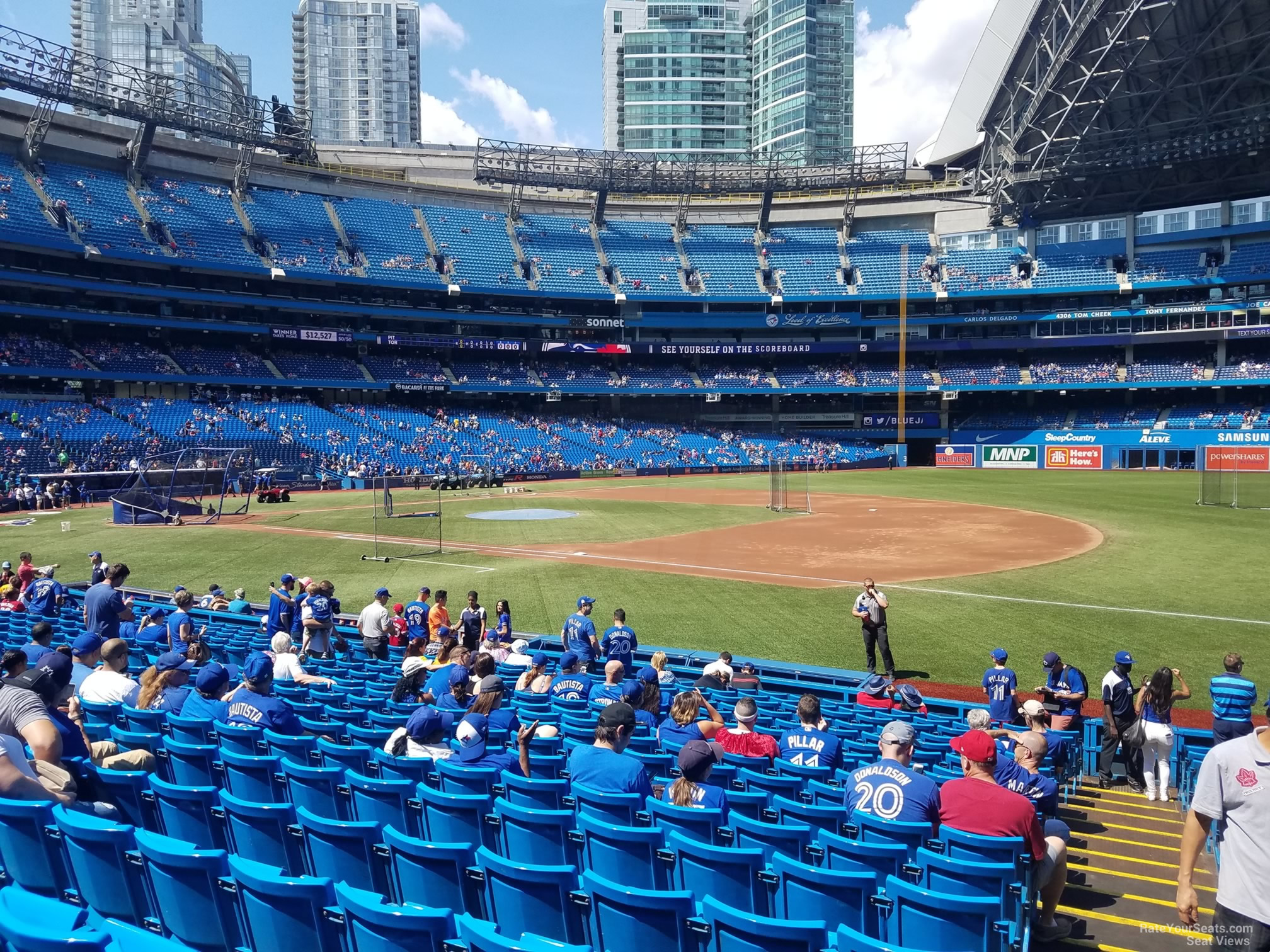 Seat View for Rogers Centre Section 114, Row 20
