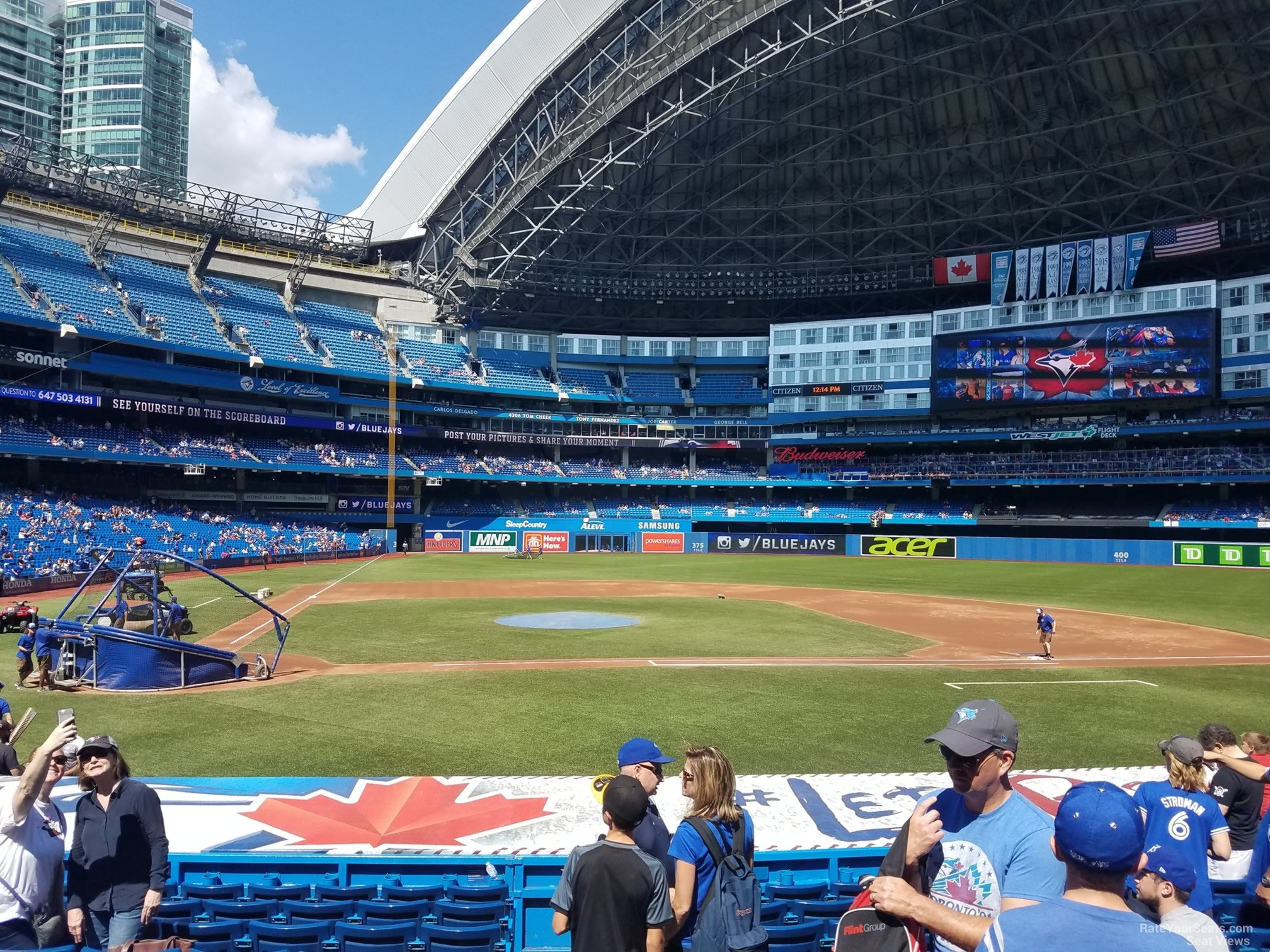 Seat View for Rogers Centre Section 118, Row 20
