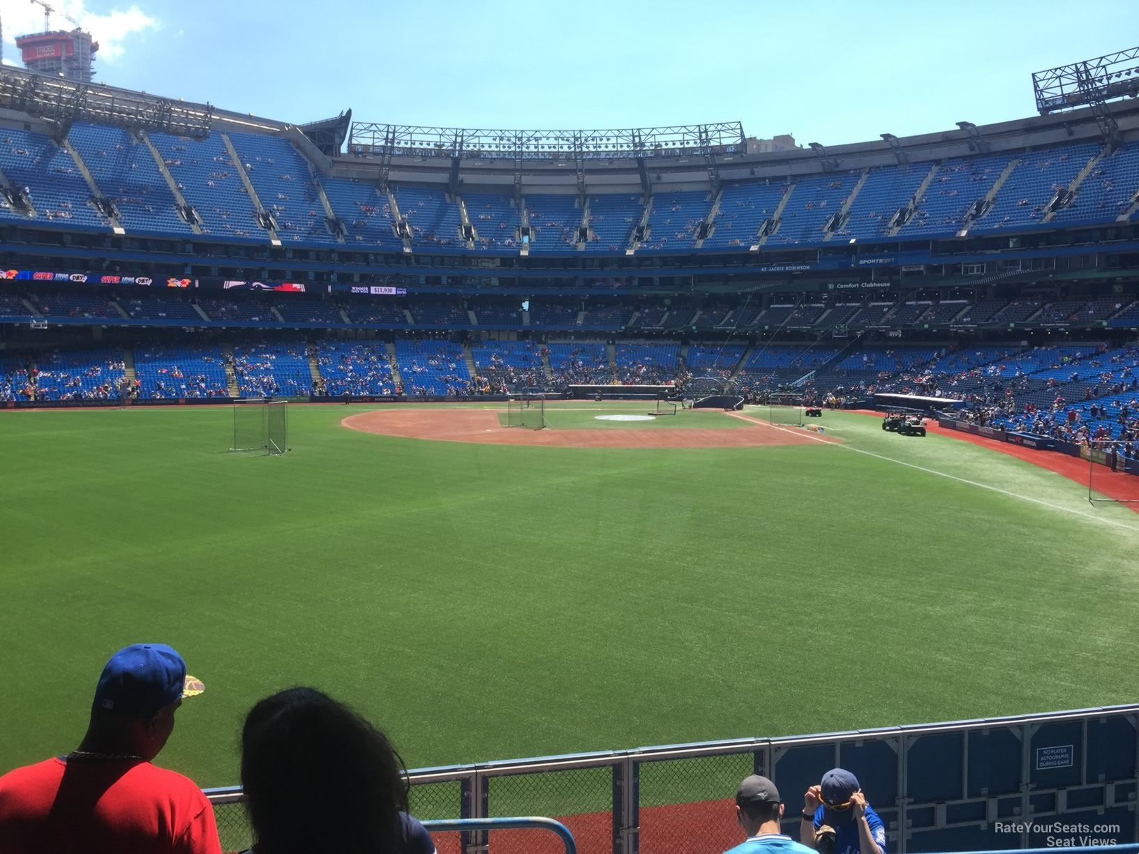 Seat View for Rogers Centre Section 137, Row 6