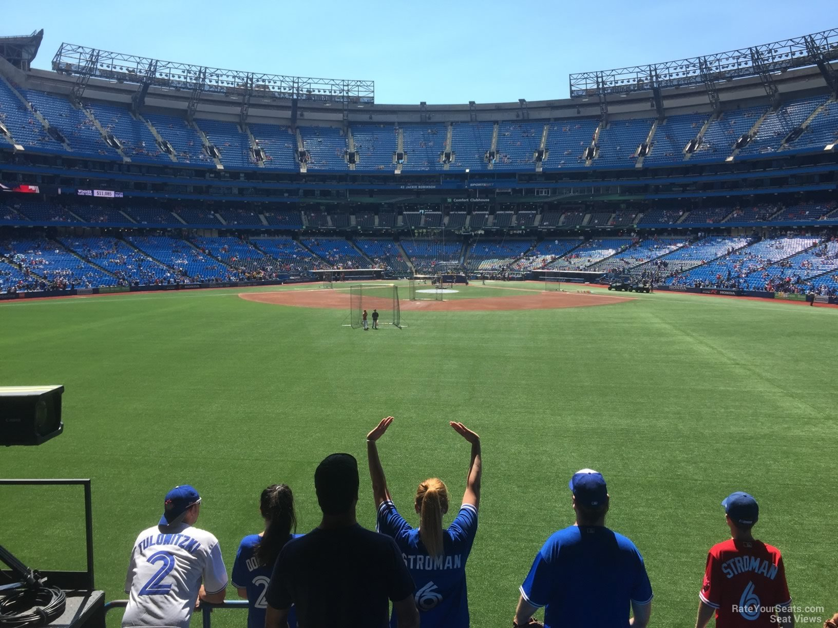 Seat View for Rogers Centre Section 142, Row 6