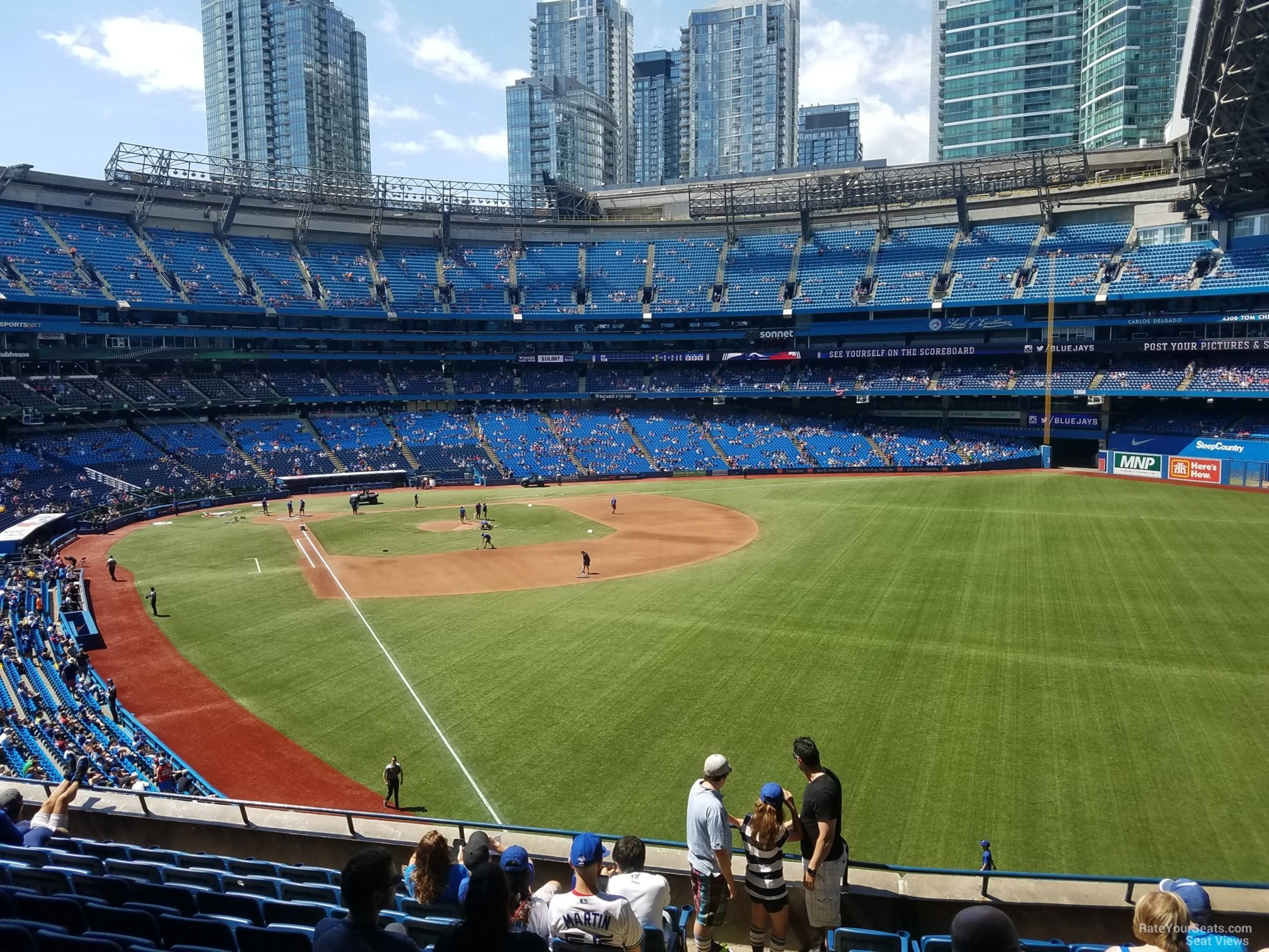 Seat View for Rogers Centre Section 210, Row 10