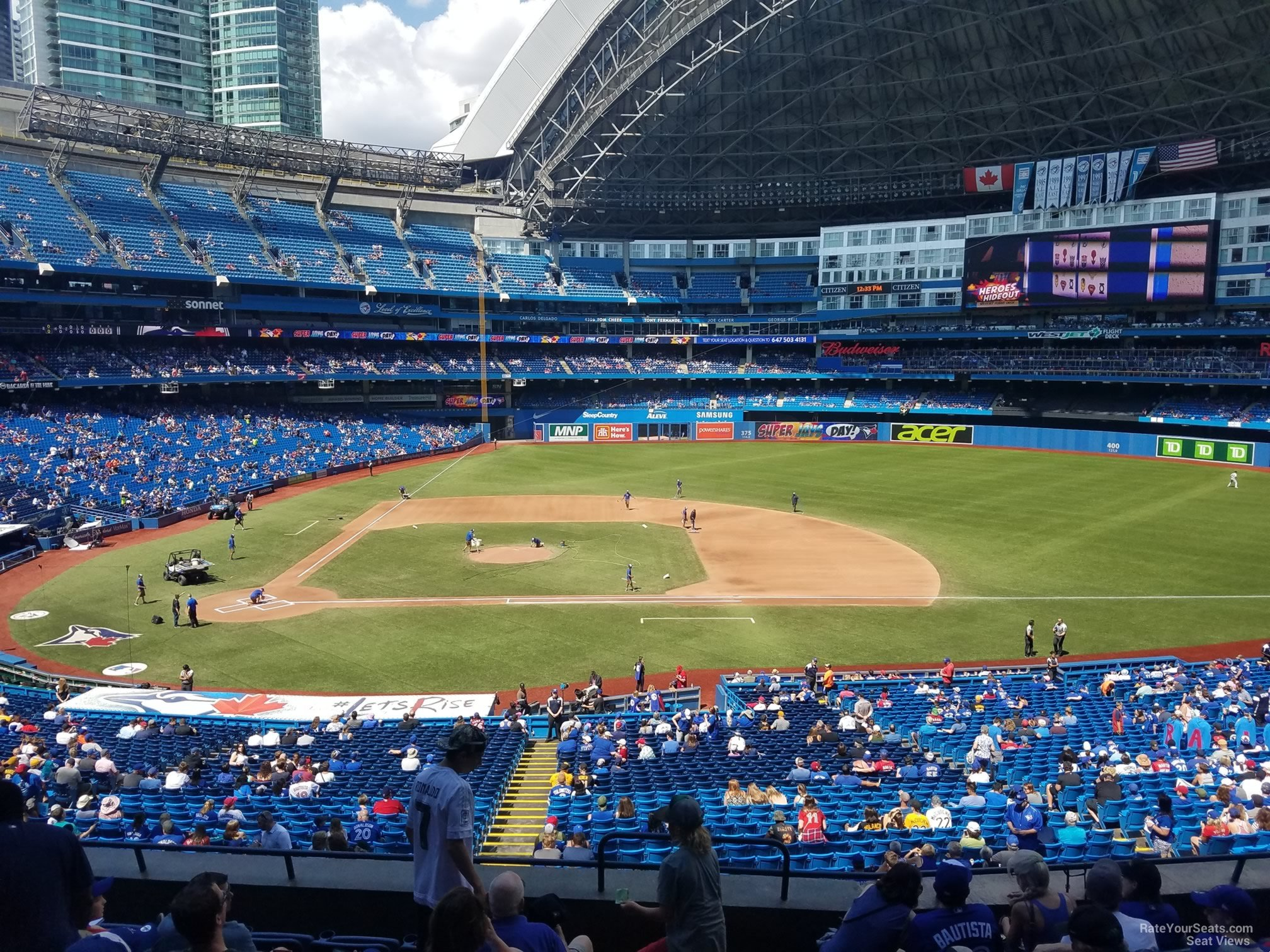 Seat View for Rogers Centre Section 219, Row 10