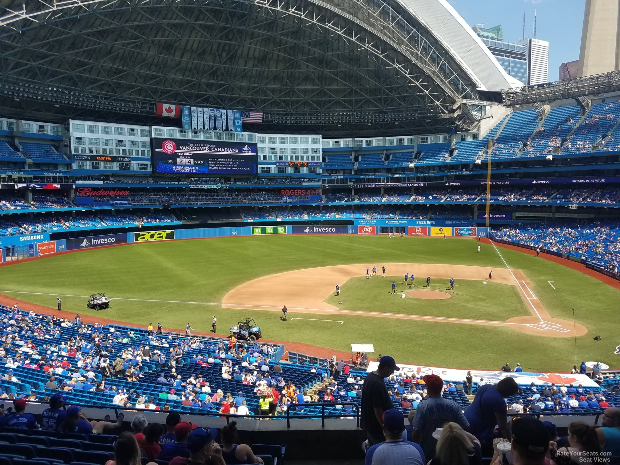 Seat View for Rogers Centre Section 228, Row 10