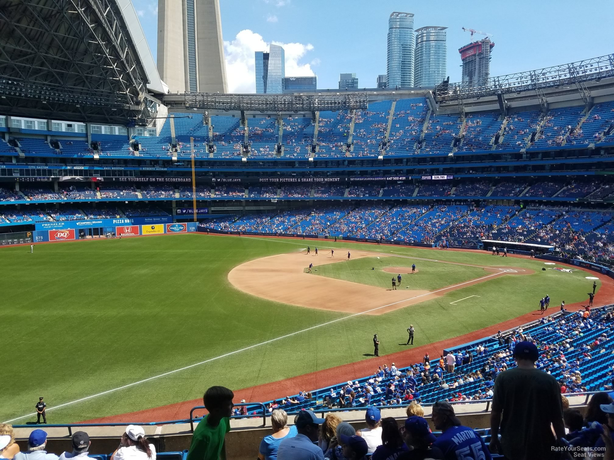 Seat View for Rogers Centre Section 235, Row 10