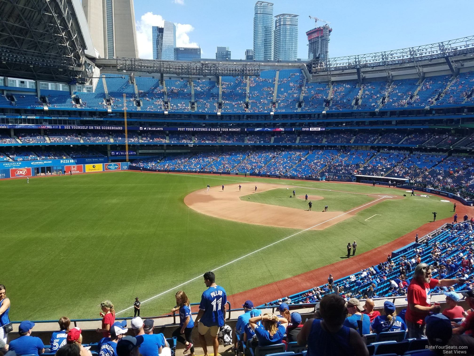 Seat View for Rogers Centre Section 236, Row 10