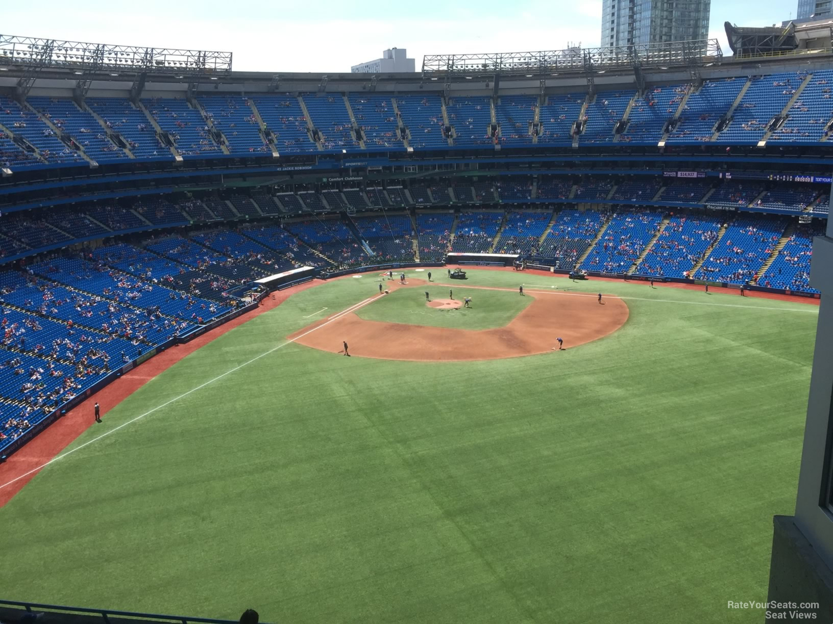 Seat View for Rogers Centre Section 504, Row 9
