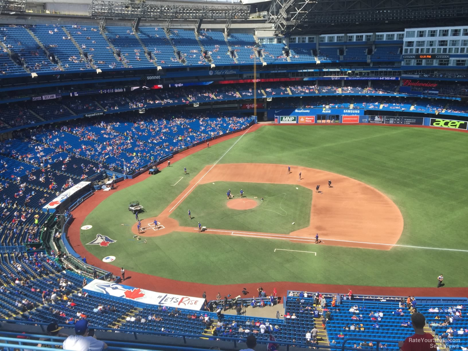 Seat View for Rogers Centre Section 518, Row 9