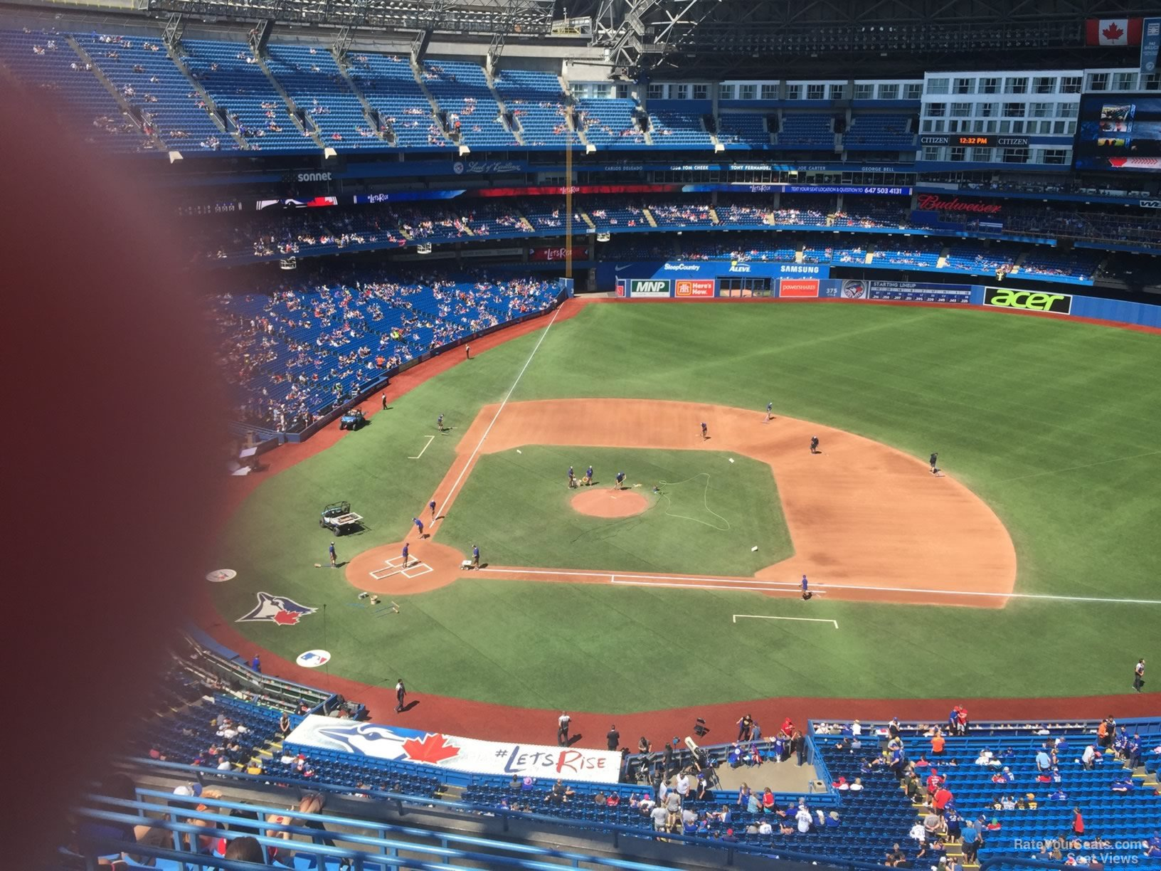 Seat View for Rogers Centre Section 519, Row 9