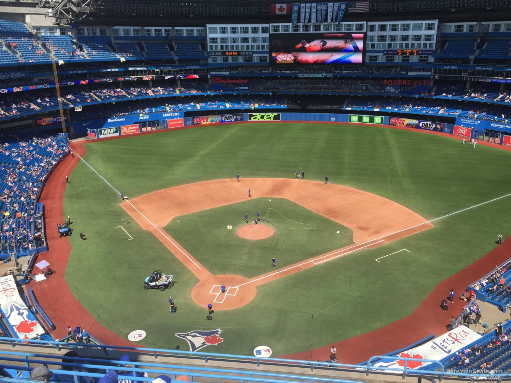 Seat View for Rogers Centre Section 523, Row 9