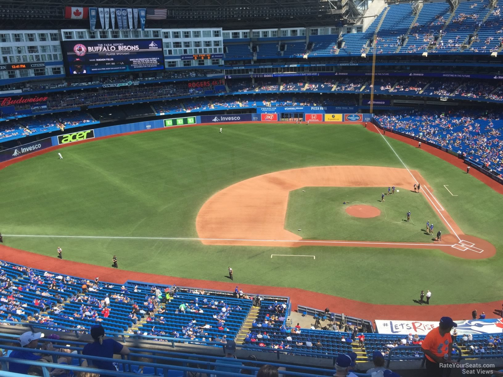 Seat View for Rogers Centre Section 529, Row 9