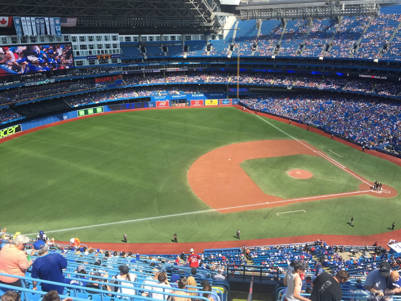 Seat View for Rogers Centre Section 532, Row 22