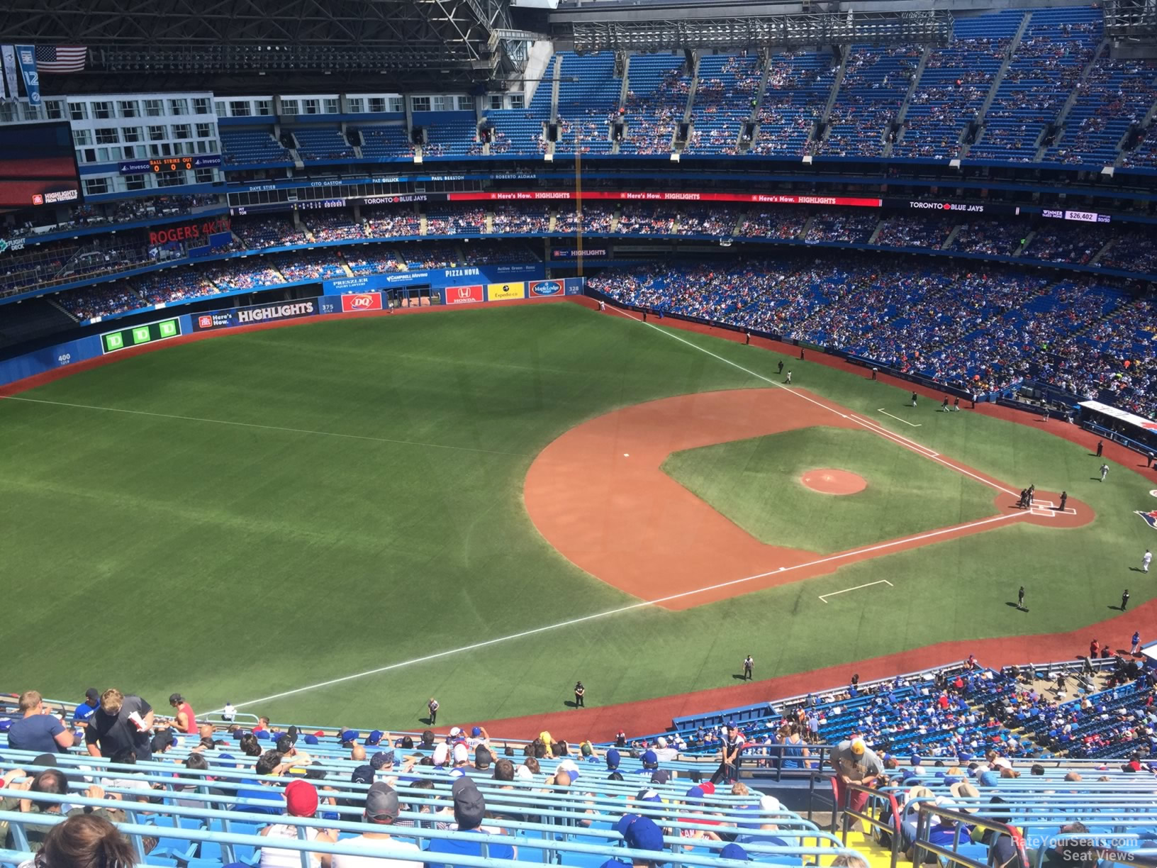 Seat View for Rogers Centre Section 533, Row 24