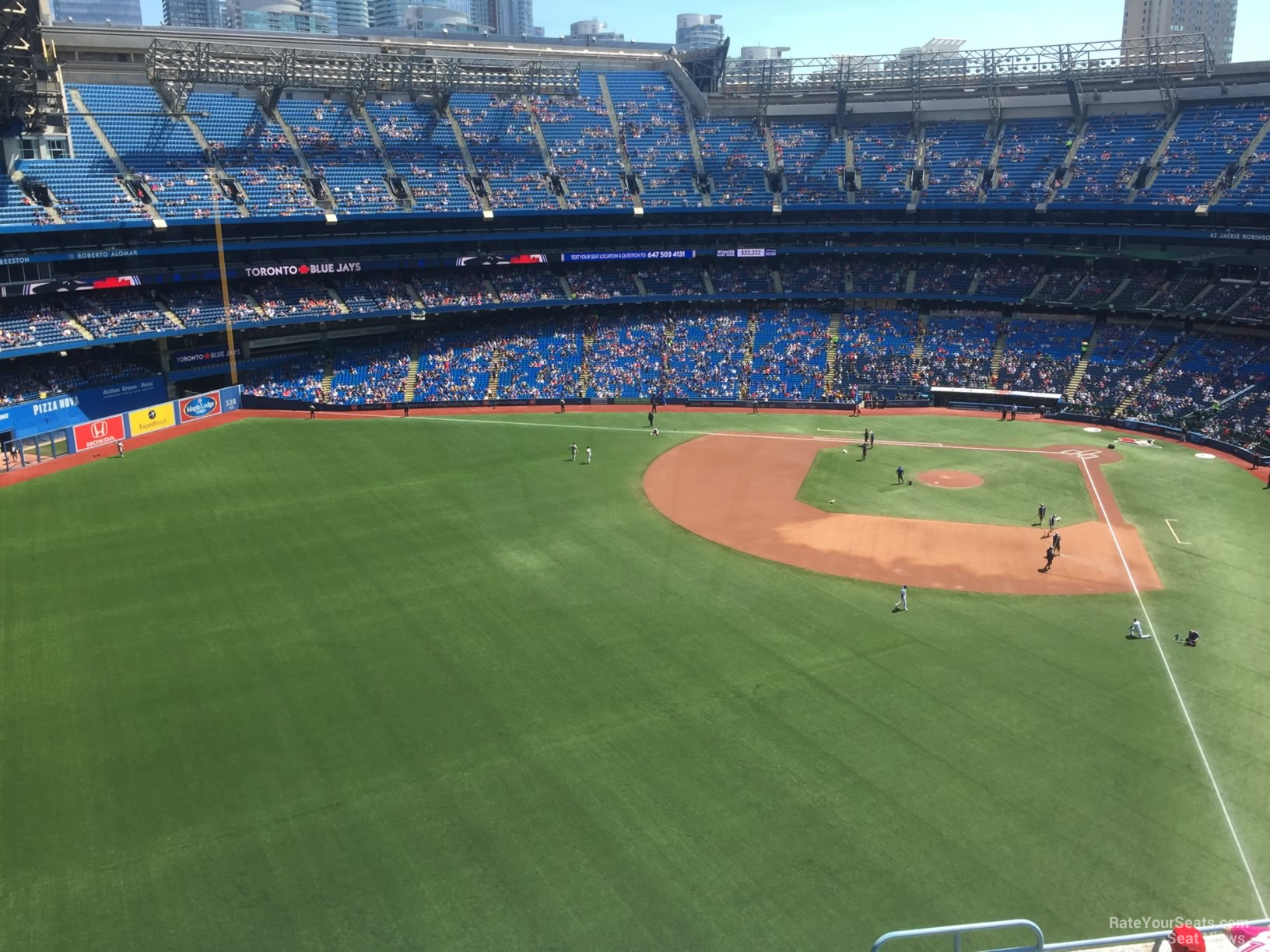 Seat View for Rogers Centre Section 540, Row 9
