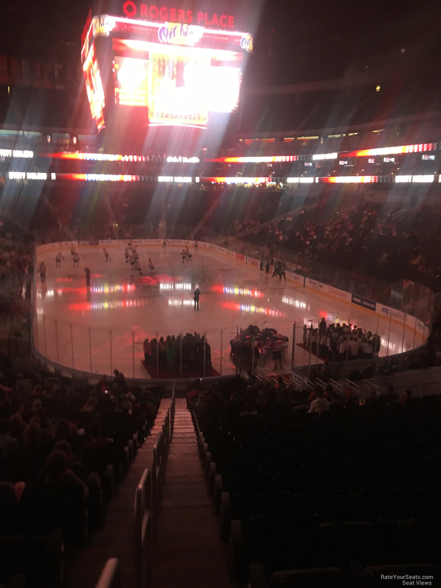Seat View for Rogers Place Section 129, Row 24