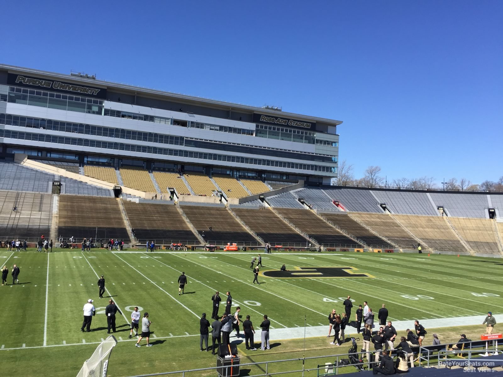 Seat View for Ross-Ade Stadium Section 103, Row 24
