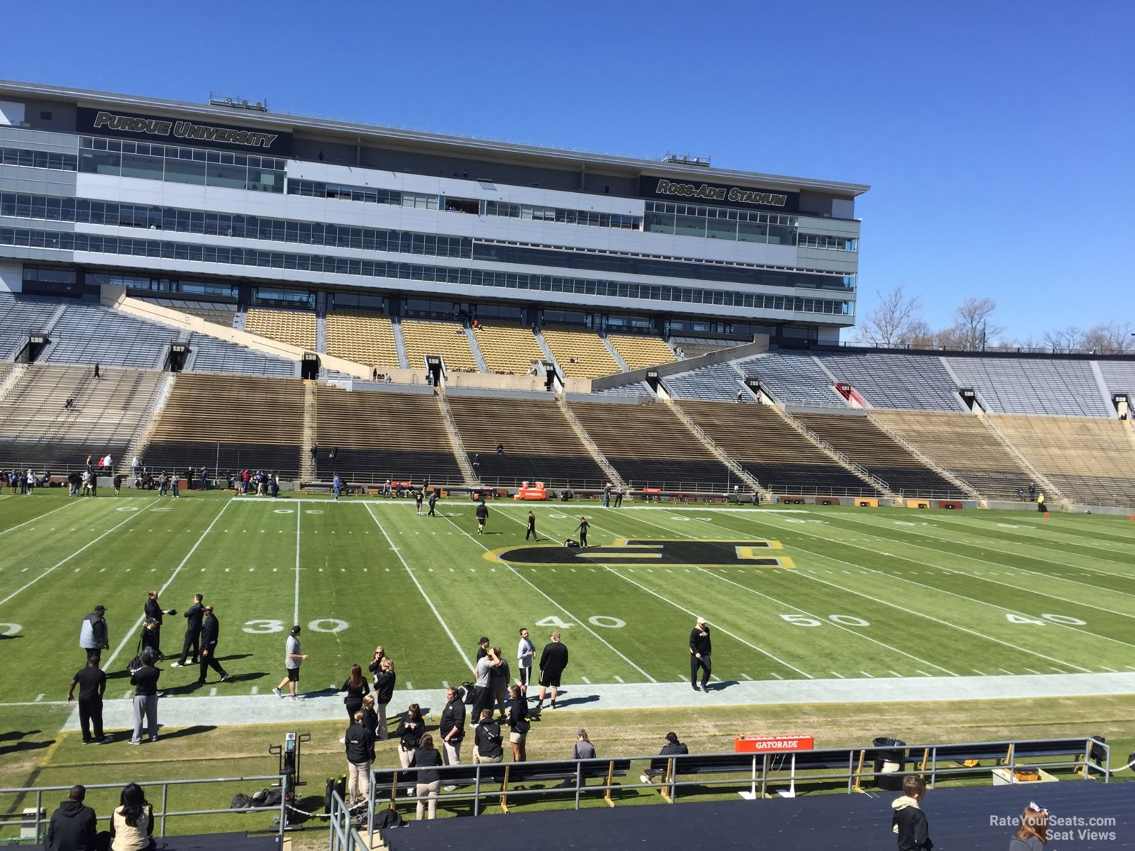 Seat View for Ross-Ade Stadium Section 104, Row 24