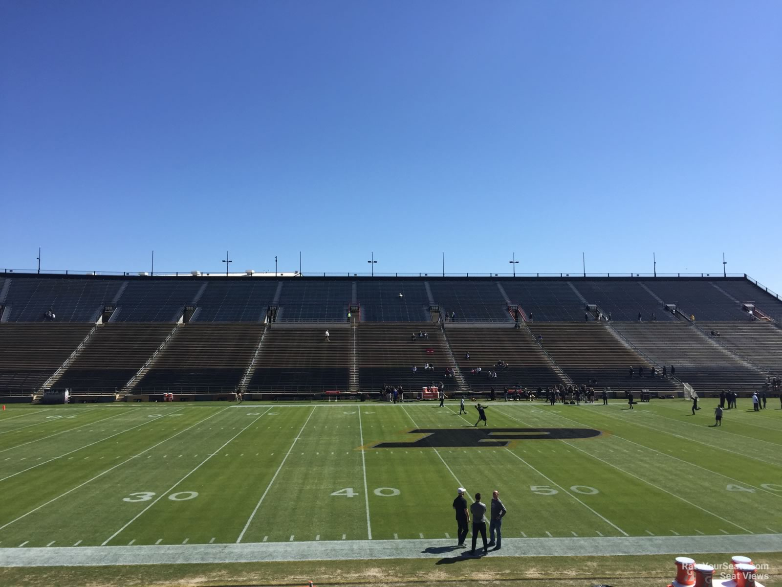 Seat View for Ross-Ade Stadium Section 124, Row 24
