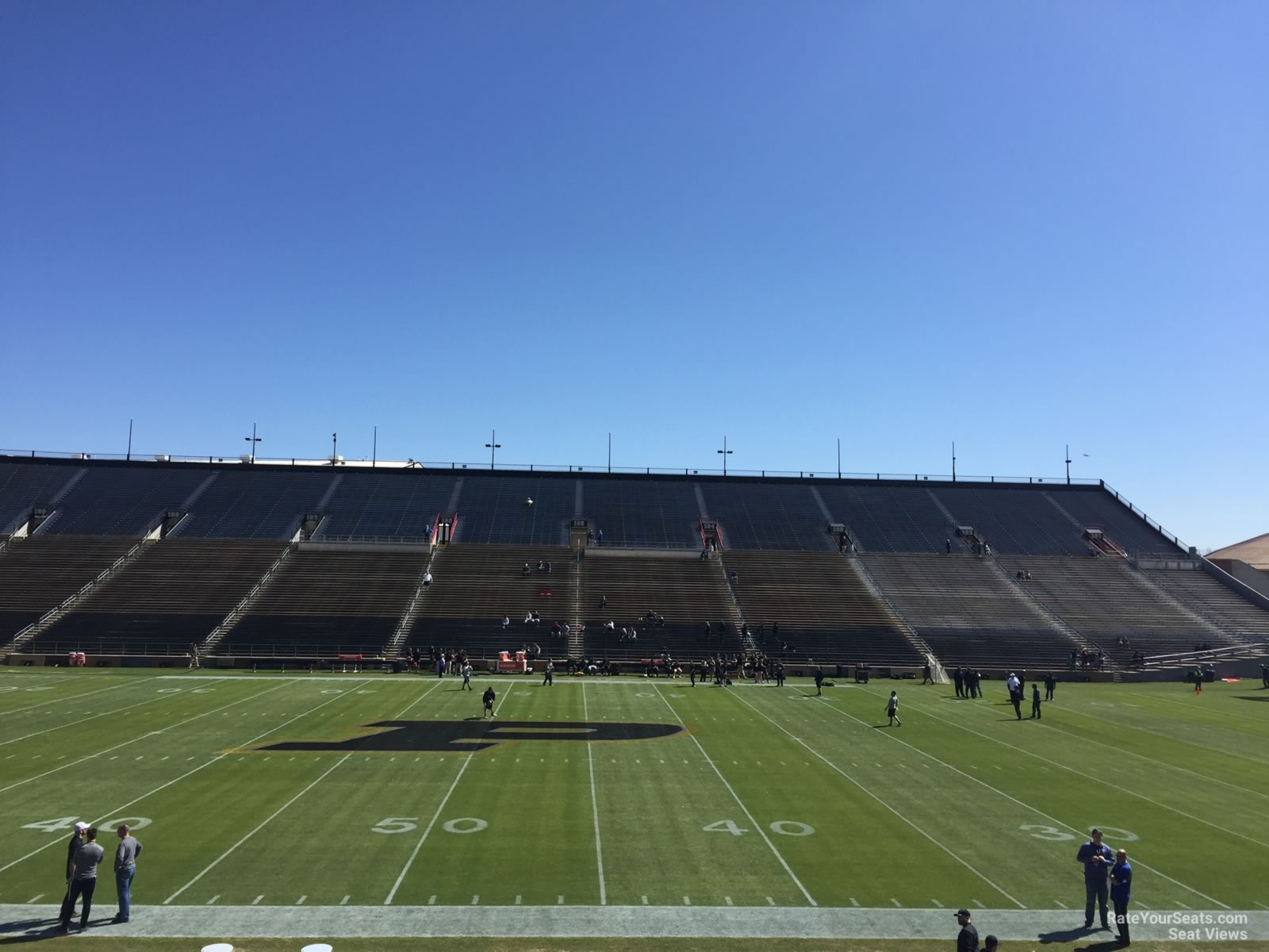 Seat View for Ross-Ade Stadium Section 125, Row 24