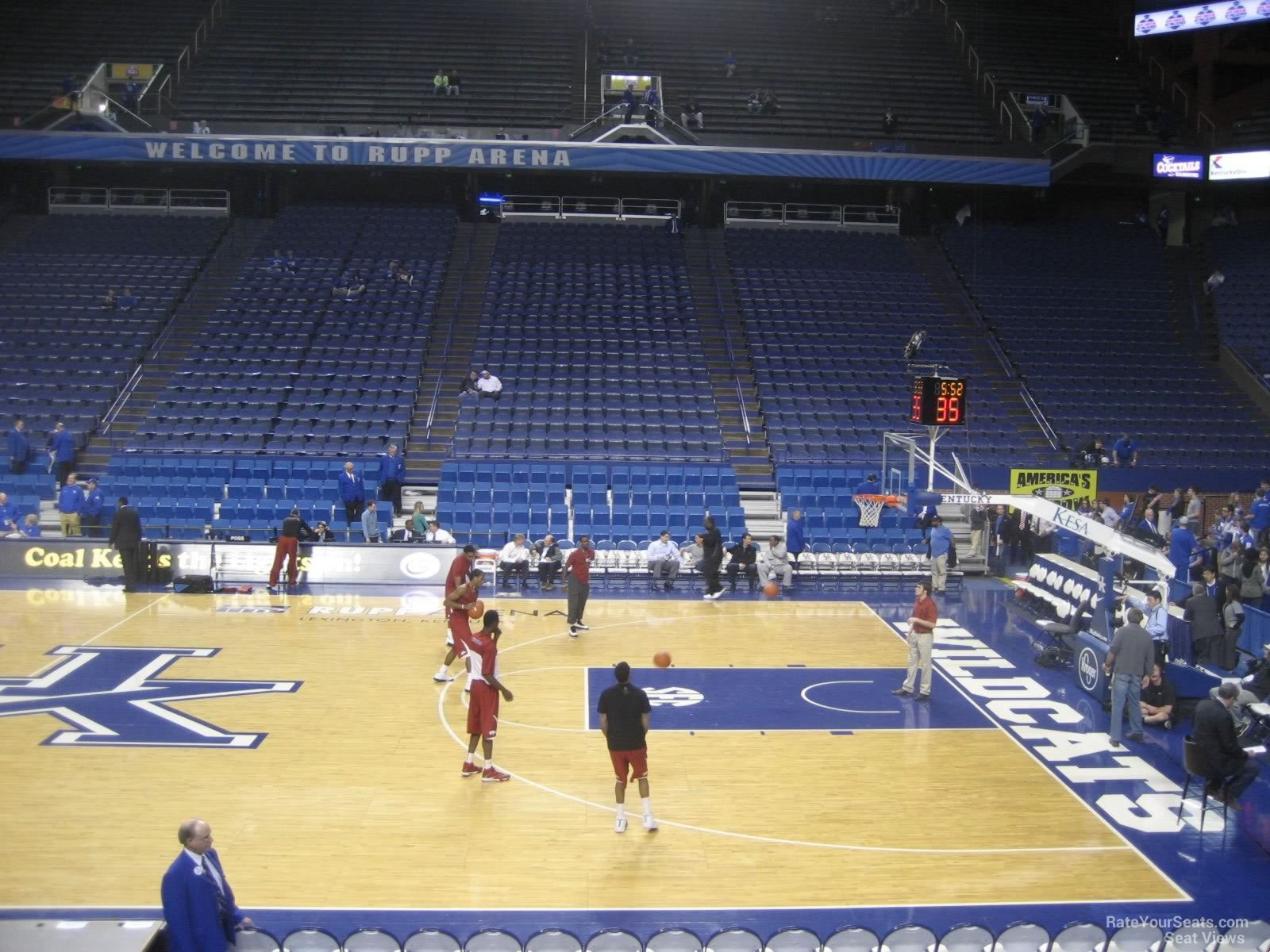 Seat View for Rupp Arena Section 13, Row F