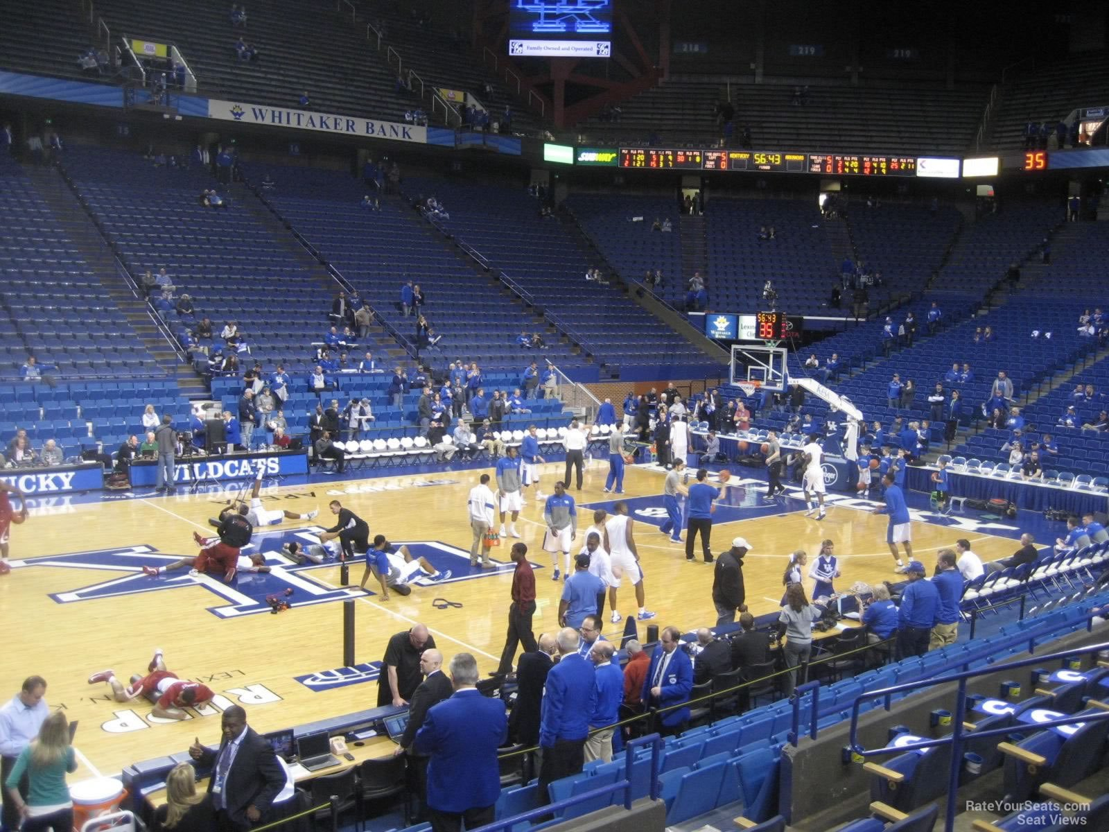 Seat View for Rupp Arena Section 32, Row F
