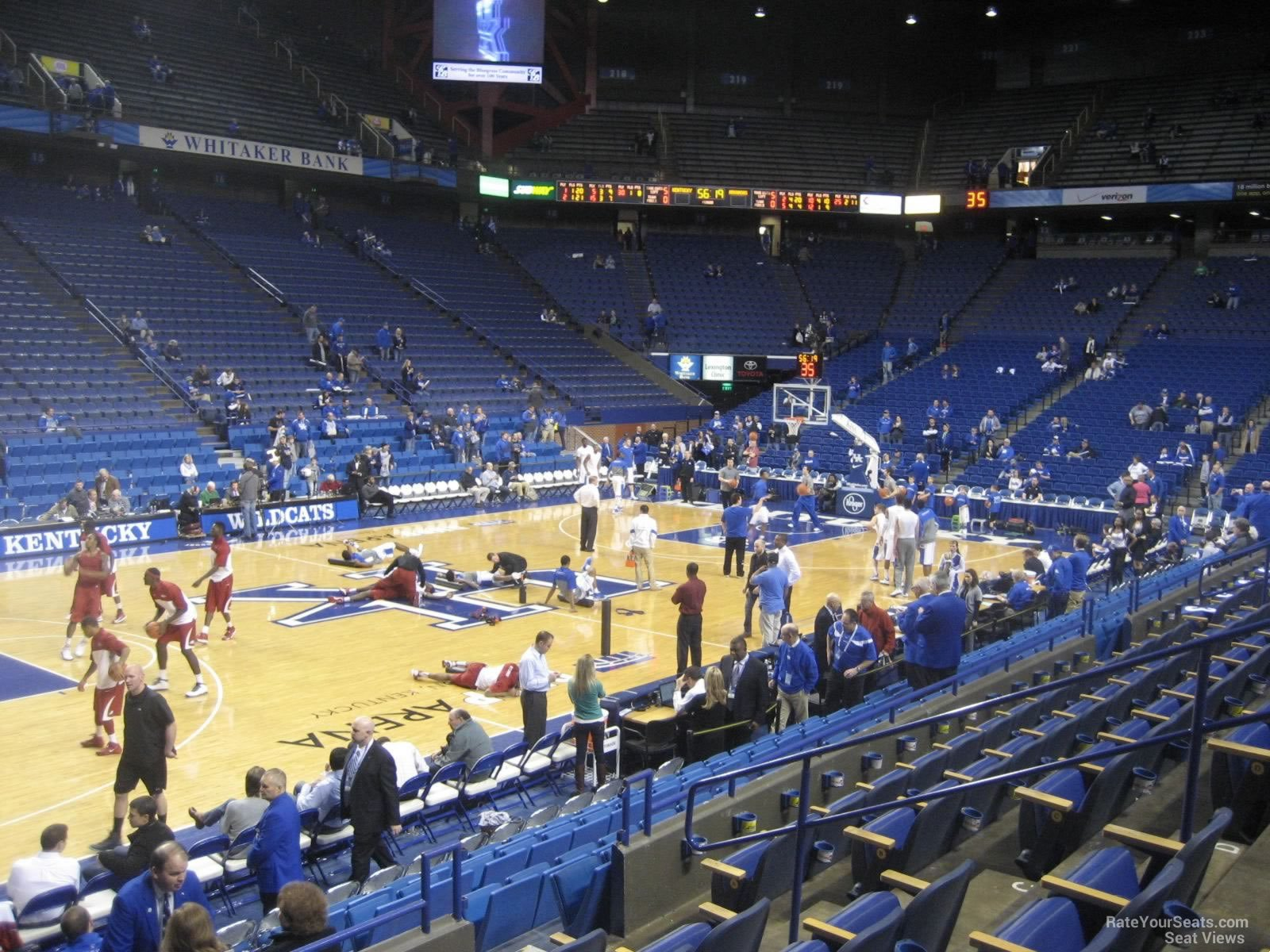 Seat View for Rupp Arena Section 33, Row F